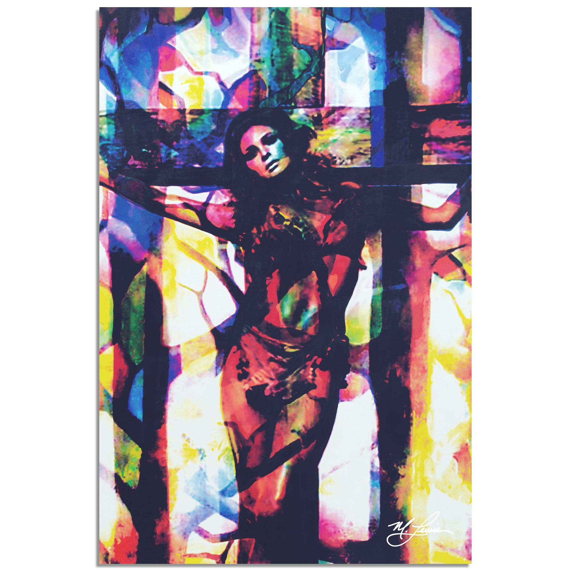 Mark Lewis 'Raquel Welch Convicted Silk' 22in x 32in Celebrity Pop Art on Metal or Plexiglass