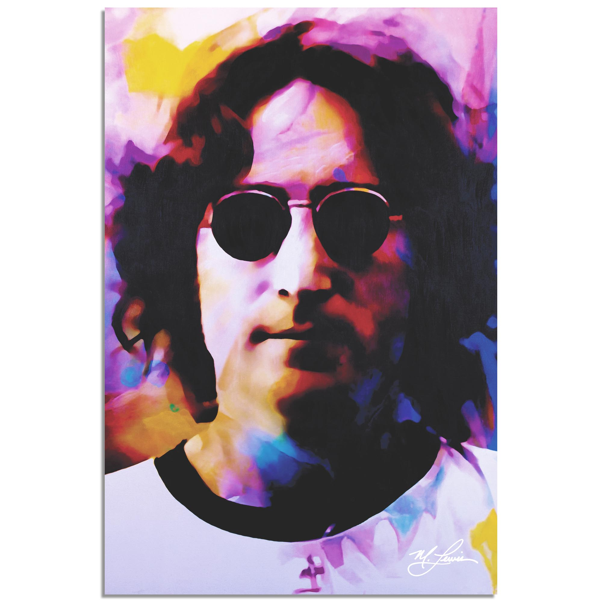 John Lennon Dance of Emotion by Mark Lewis - Celebrity Pop Art on Metal or Plexiglass