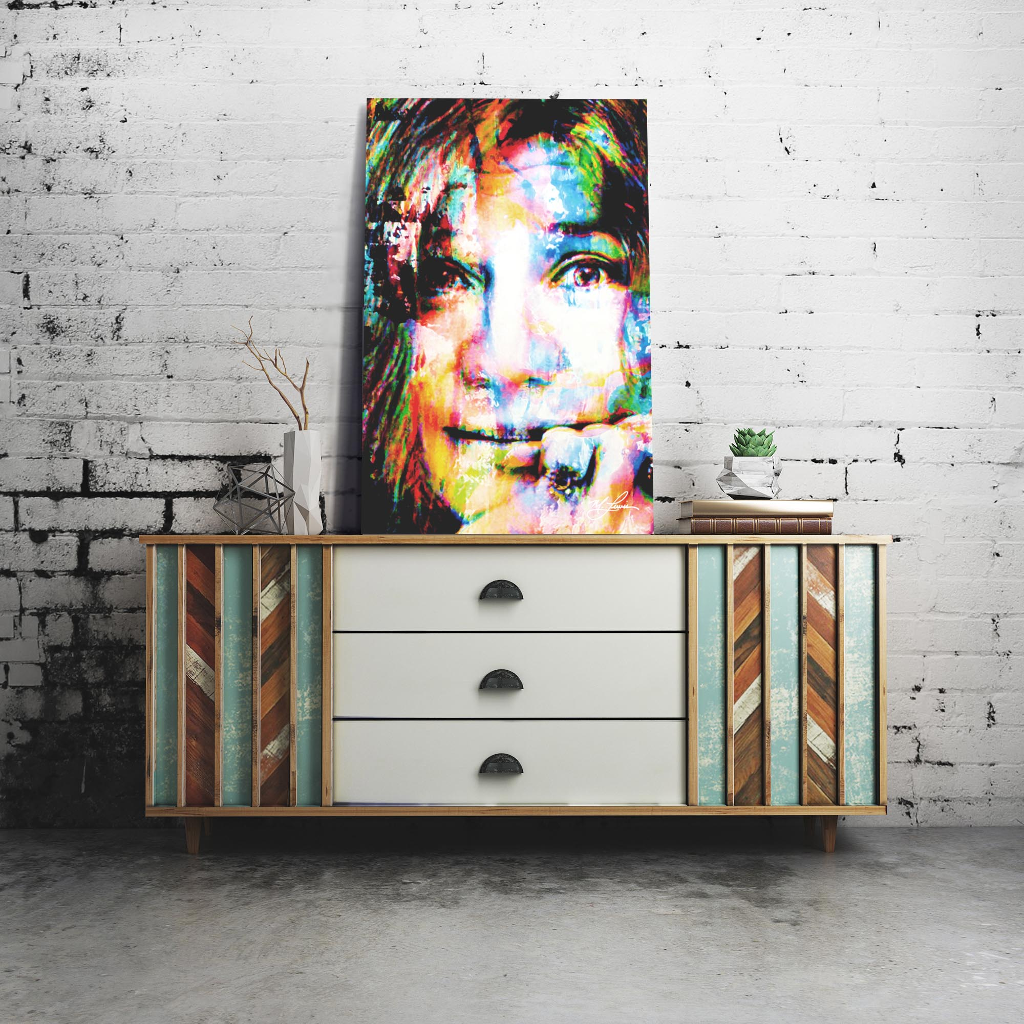 Janis Joplin Declaration of Soul by Mark Lewis - Celebrity Pop Art on Metal or Plexiglass - ML0038