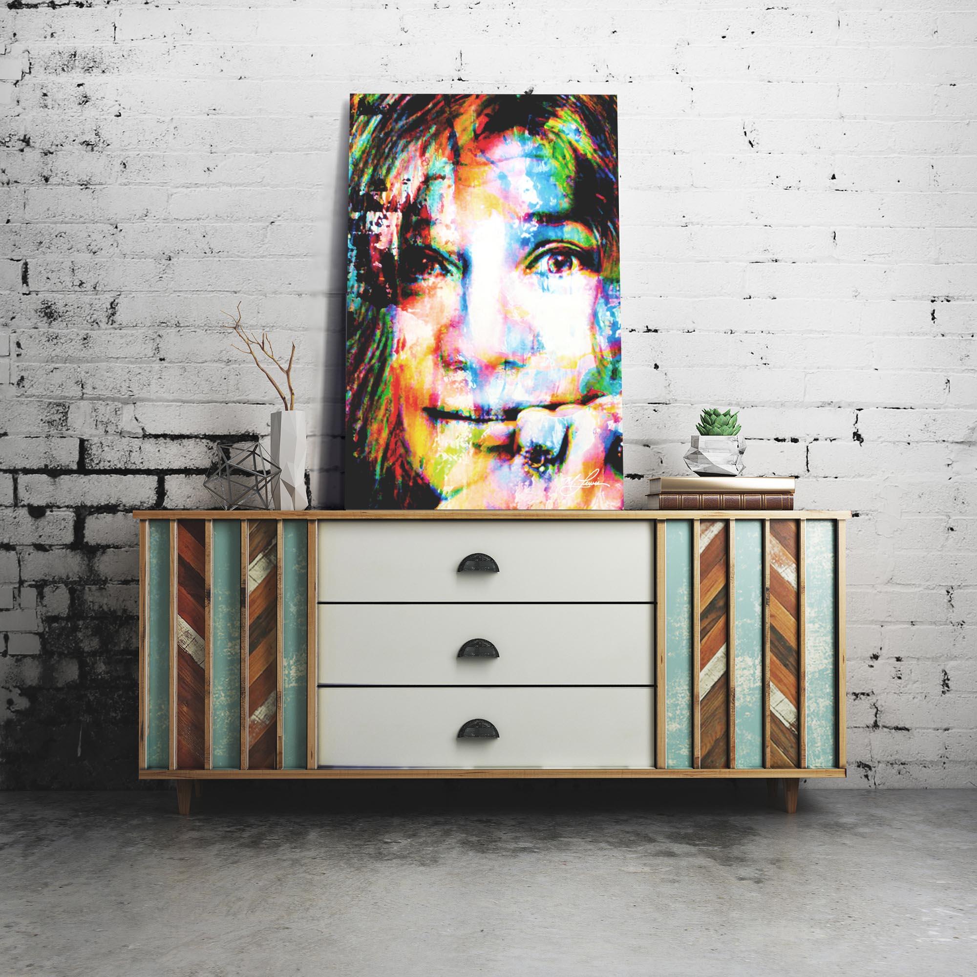 Janis Joplin Declaration of Soul 22x32 Metal or Plexiglass Pop Art Portrait - Lifestyle View