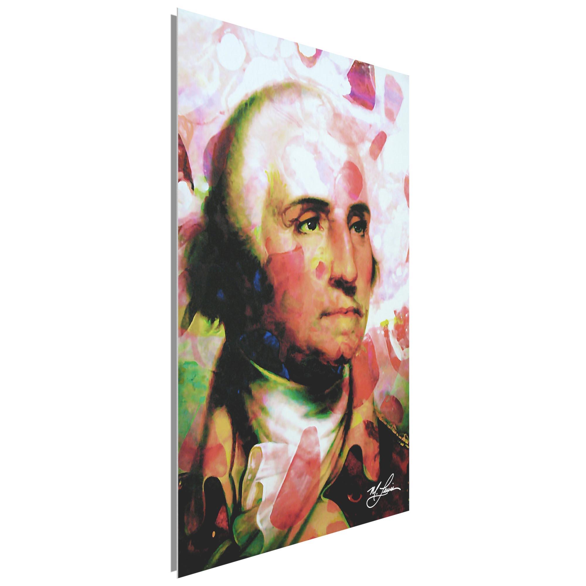 George Washington Disciplined Soul 22x32 Metal or Plexiglass Pop Art Portrait - Image 2