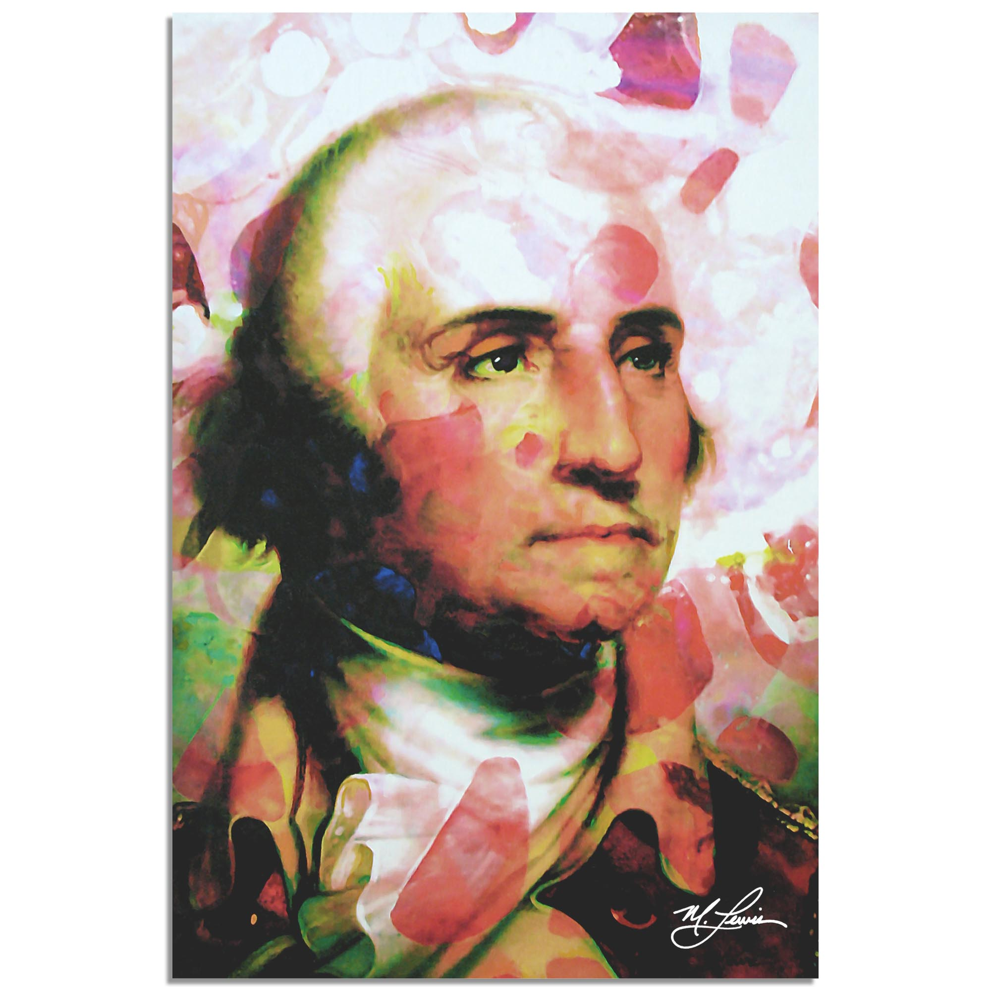 George Washington Disciplined Soul by Mark Lewis - Celebrity Pop Art on Metal or Plexiglass