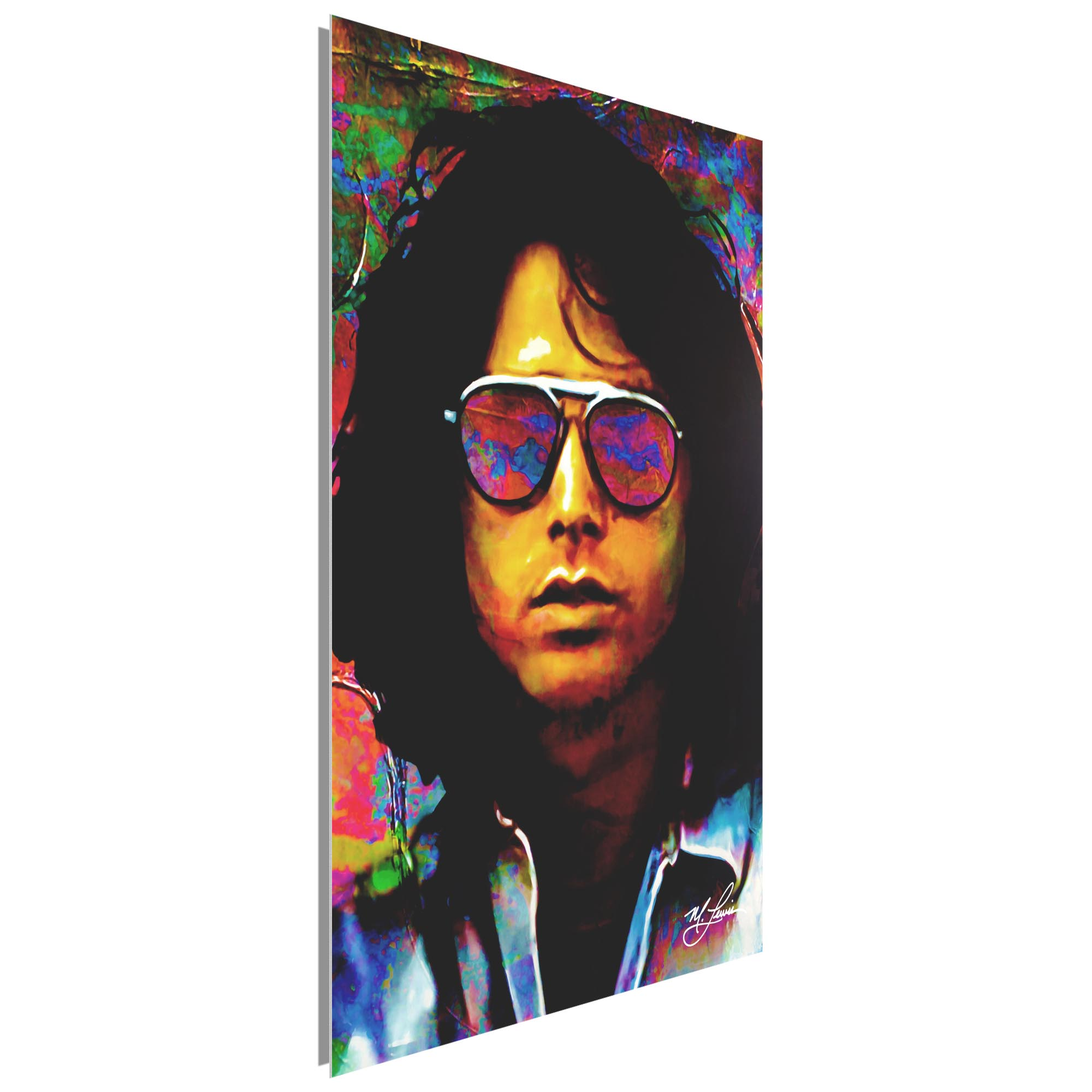 Jim Morrison Insightful Chaos 22x32 Metal or Plexiglass Pop Art Portrait - Image 2