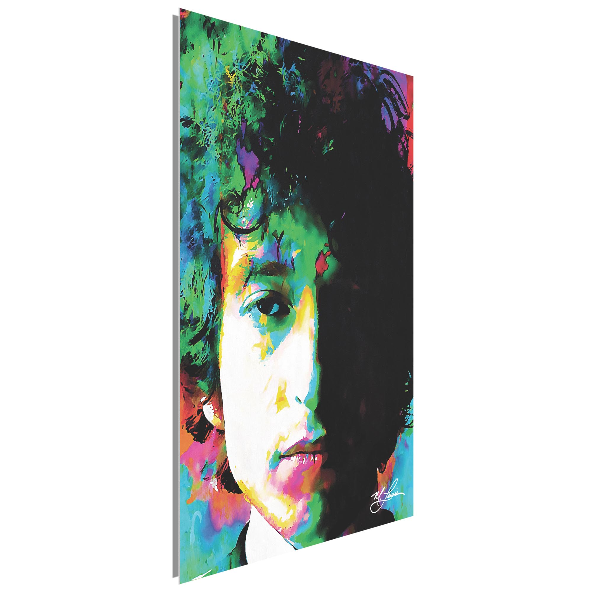 Bob Dylan Natural Memory 22x32 Metal or Plexiglass Pop Art Portrait - Image 2