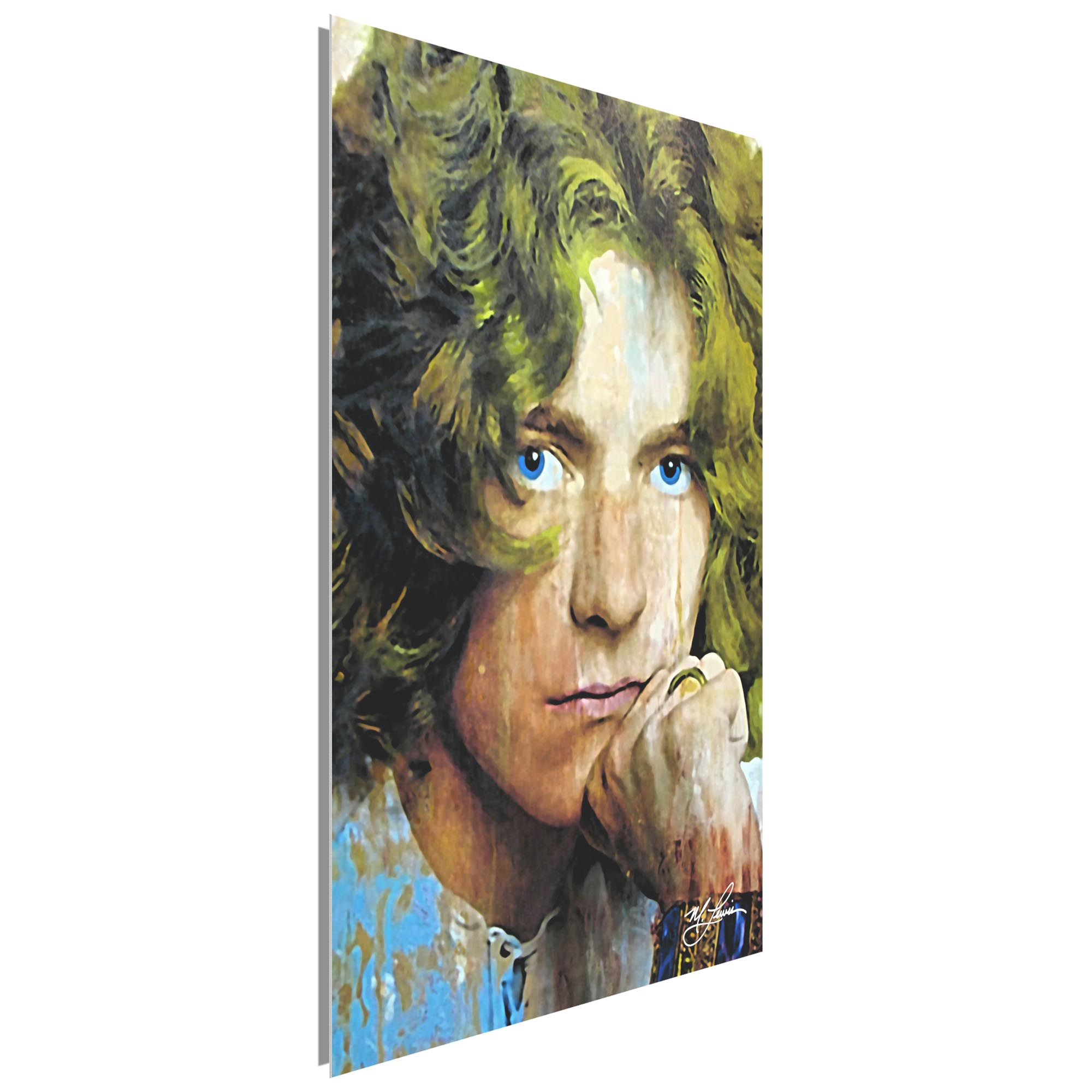 Robert Plant Shear Power 22x32 Metal or Plexiglass Pop Art Portrait - Image 2