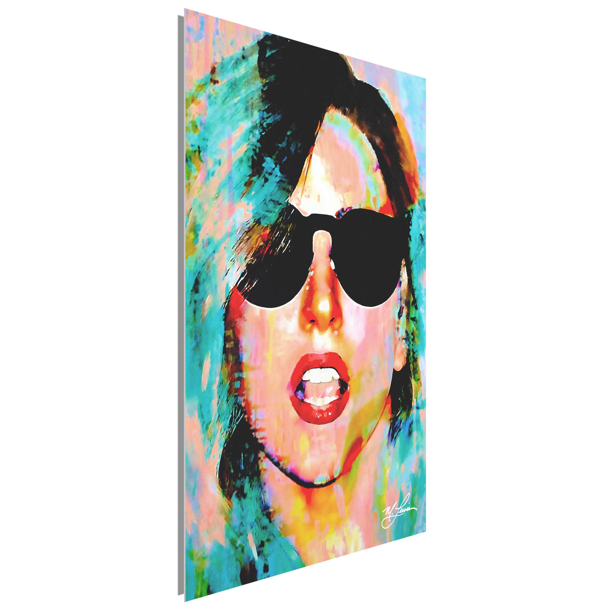 Lady Gaga Everyday Art 22x32 Metal or Plexiglass Pop Art Portrait - Image 2