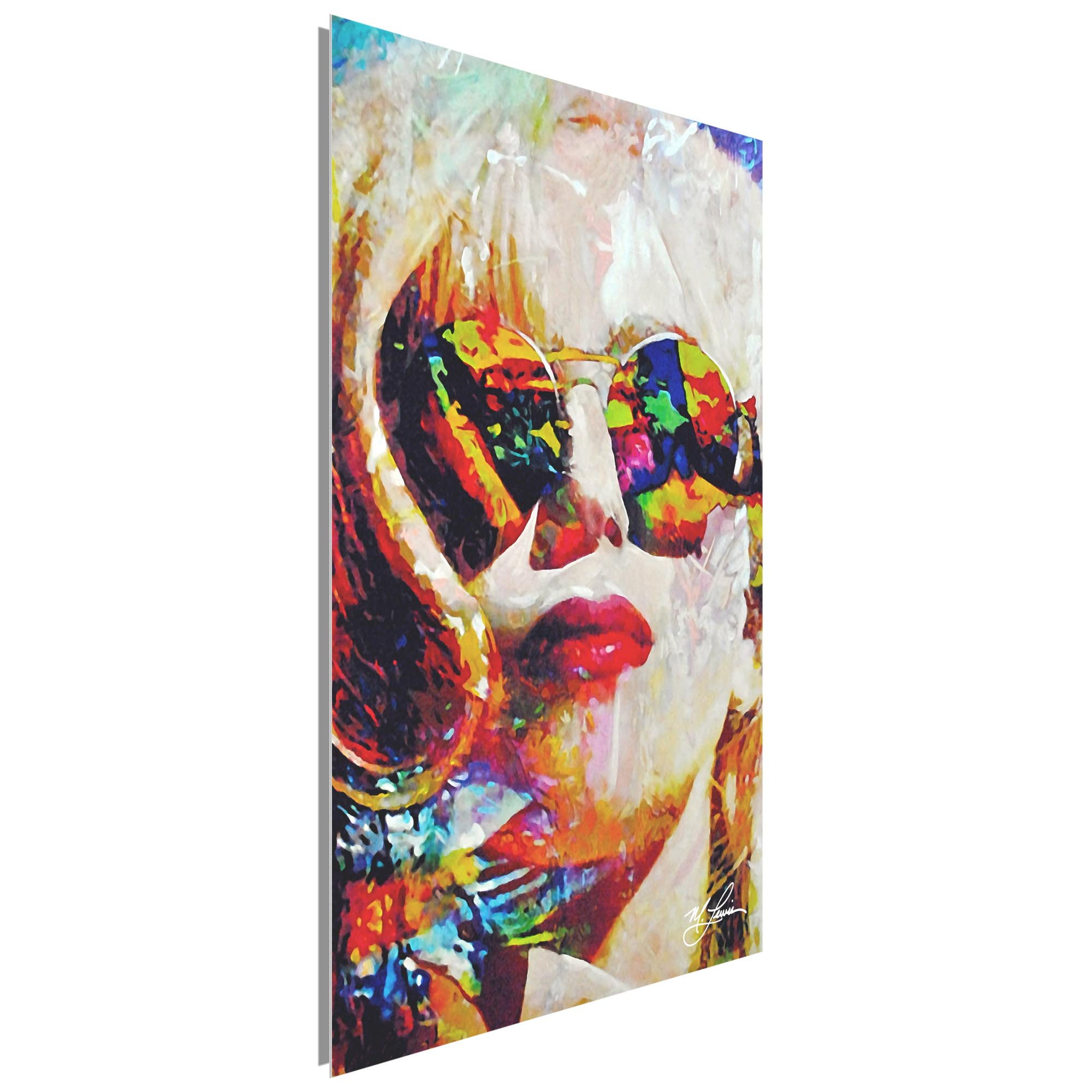 Lady Gaga Study 2 by Mark Lewis - Contemporary Pop Art on Metal or Plexiglass - Image 2
