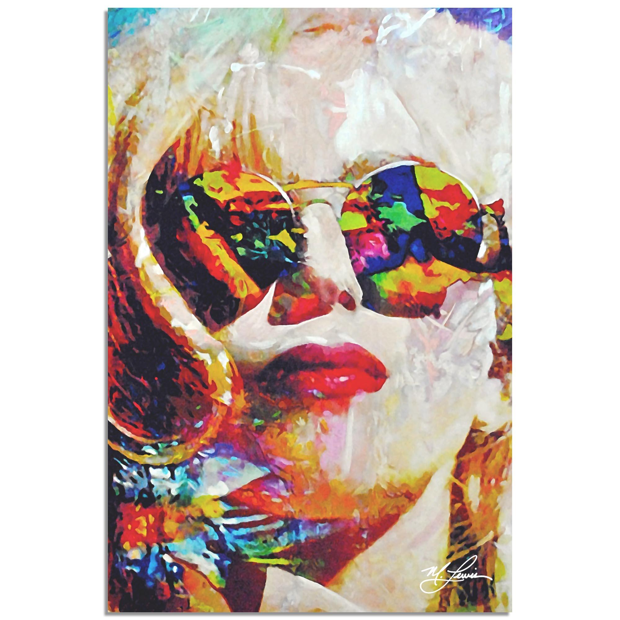 Mark Lewis 'Lady Gaga Study 2' 22in x 32in Celebrity Pop Art on Metal or Plexiglass