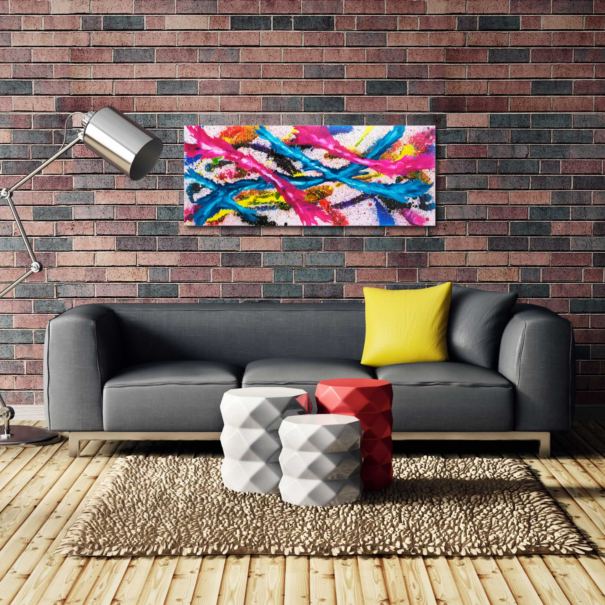 Splash Colorful Room Wall: Metal Art Studio - Color Splash