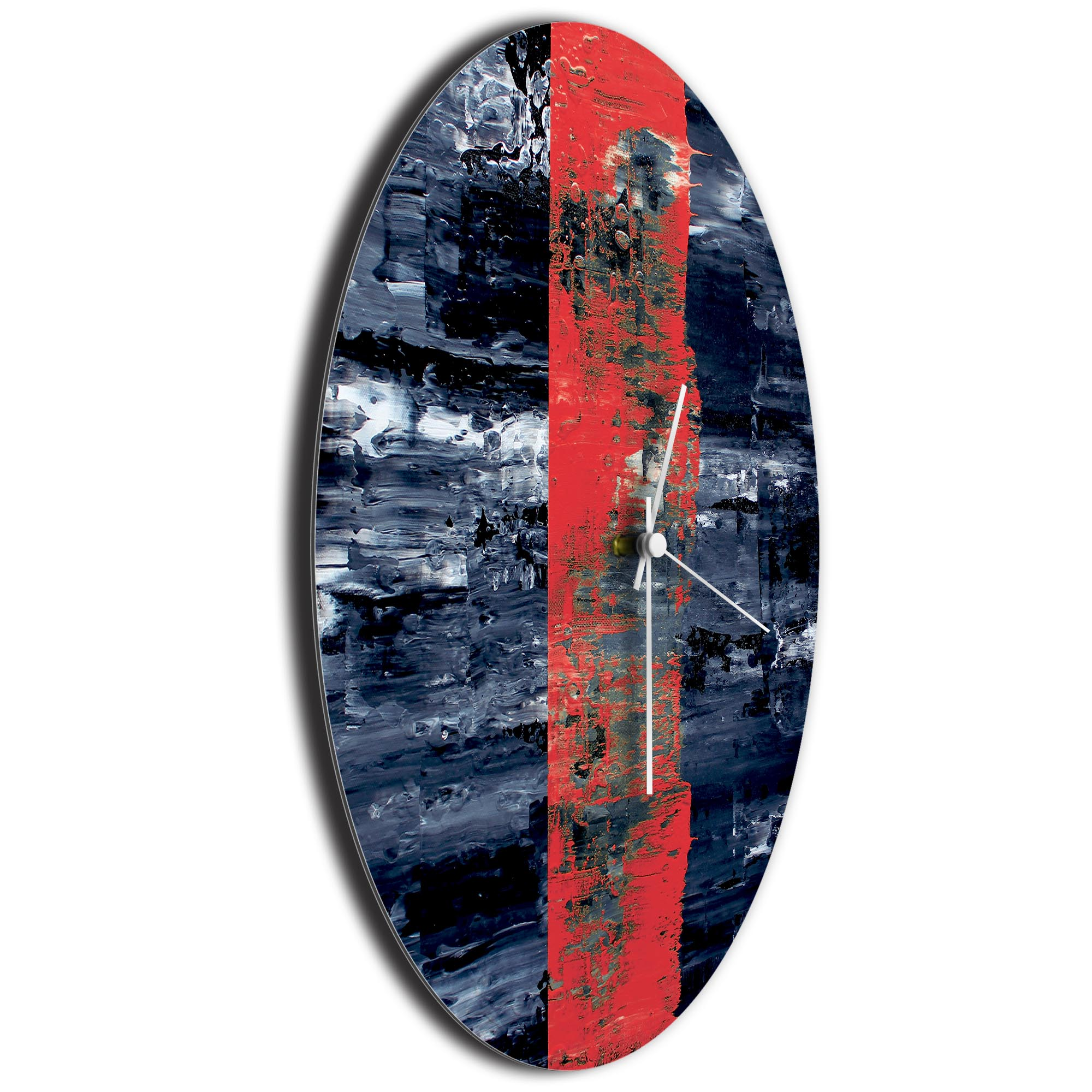 Red Line Circle Clock Large by Mendo Vasilevski - Urban Abstract Home Decor - Image 3