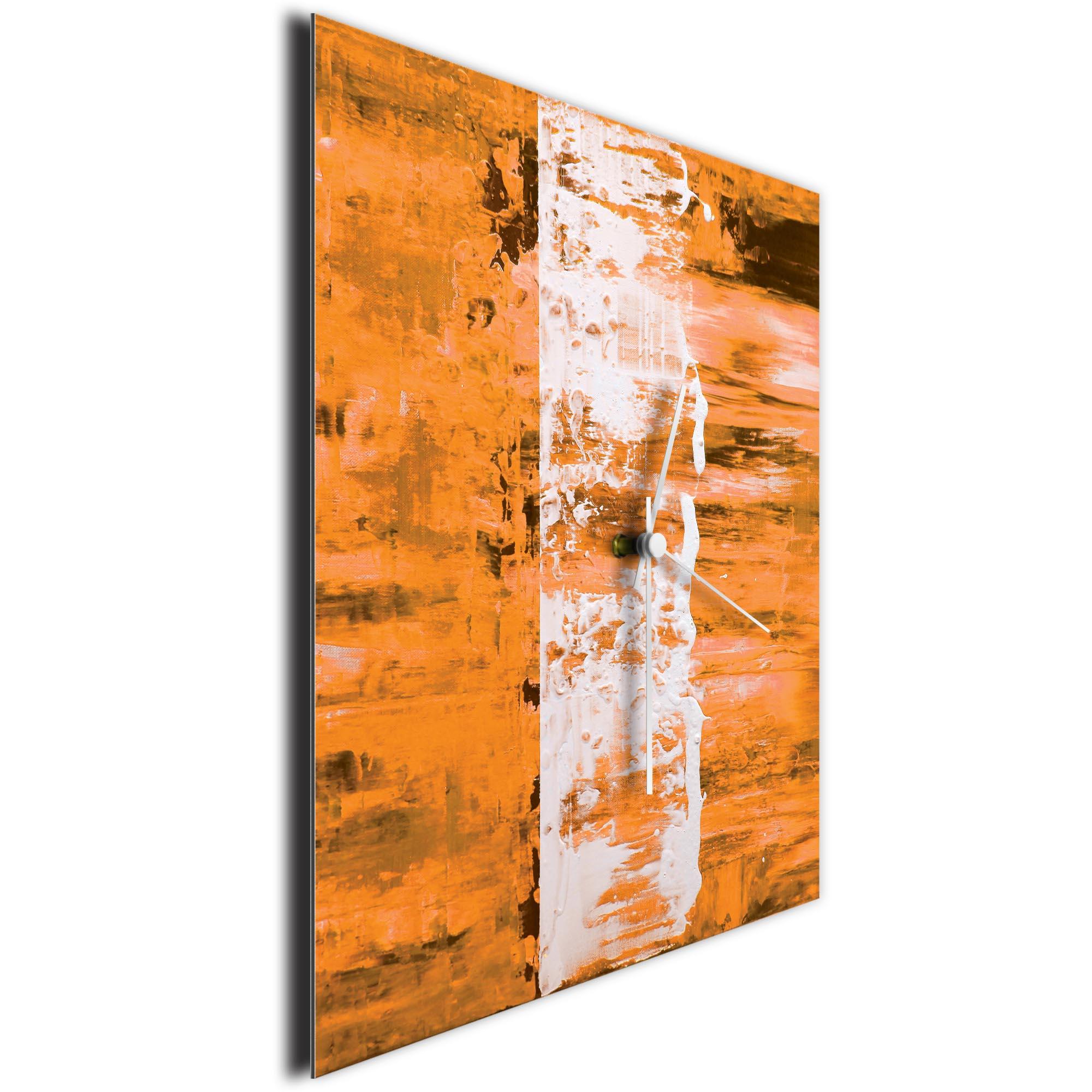 Orange Street Square Clock by Mendo Vasilevski - Urban Abstract Home Decor - Image 3