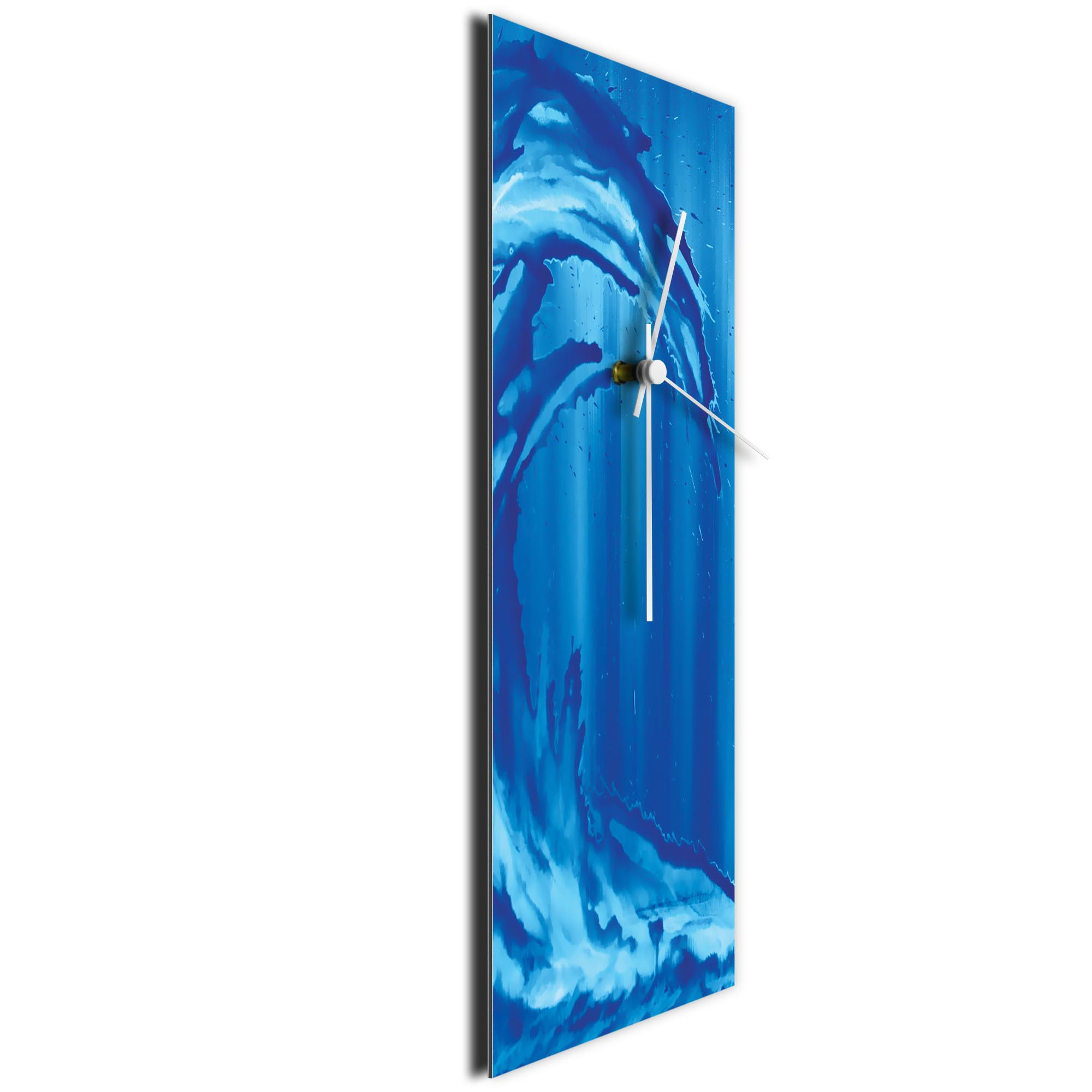 Blue Wave v1 Clock by Mendo Vasilevski - Urban Abstract Home Decor - Image 3