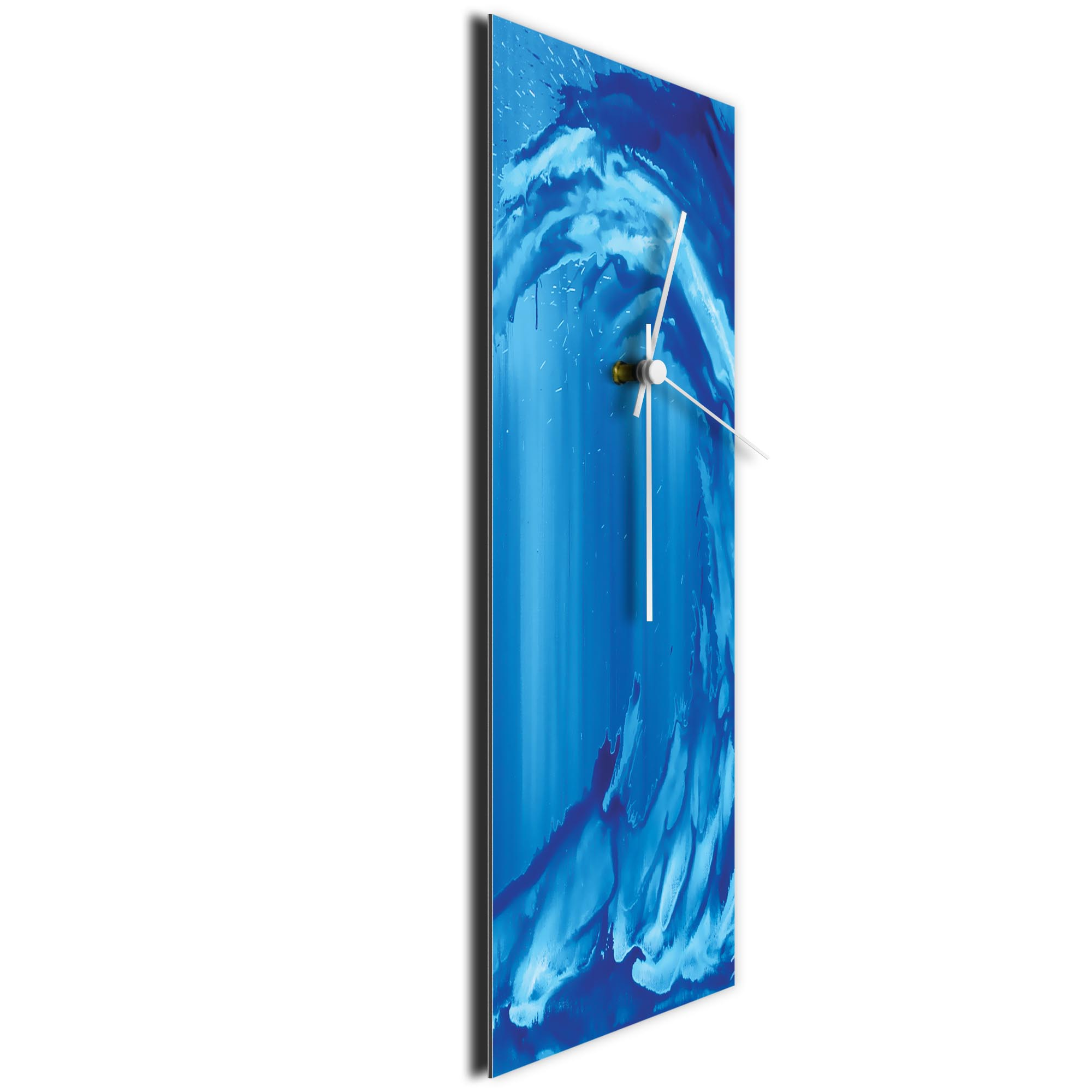 Blue Wave v2 Clock Large by Mendo Vasilevski - Urban Abstract Home Decor - Image 3