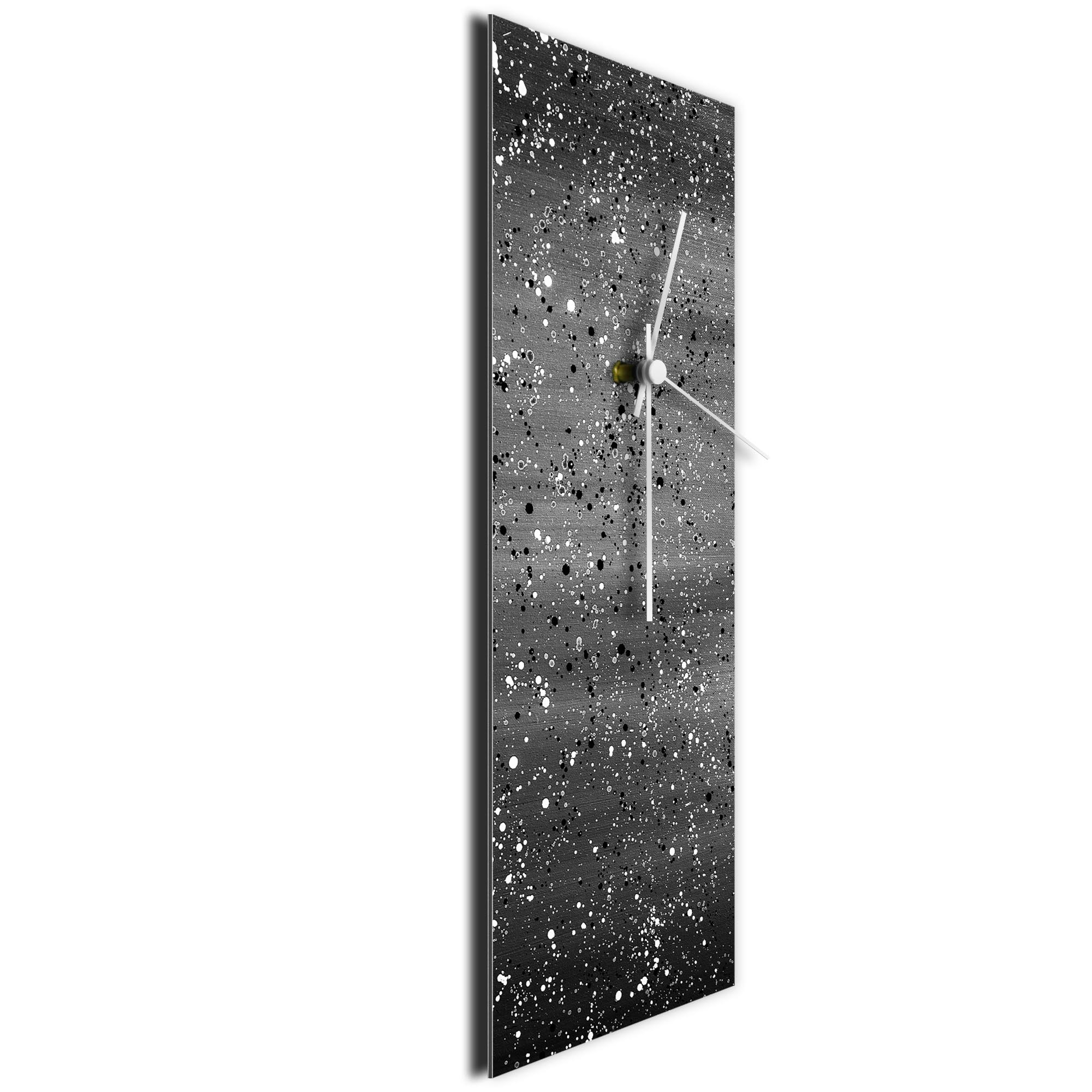 Black Flecked Clock Large by Mendo Vasilevski - Urban Abstract Home Decor - Image 3