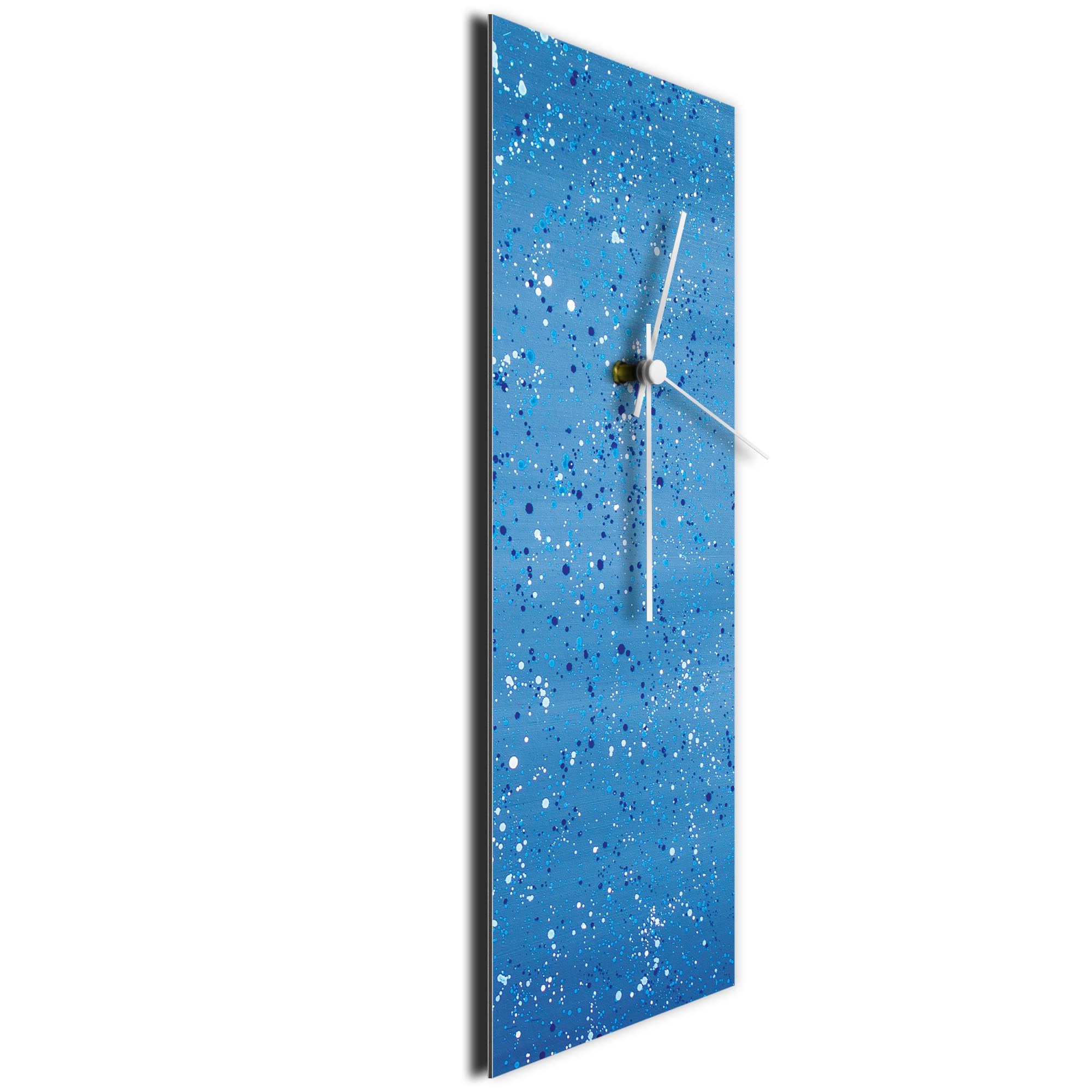 Blue Flecked Clock Large by Mendo Vasilevski - Urban Abstract Home Decor - Image 3