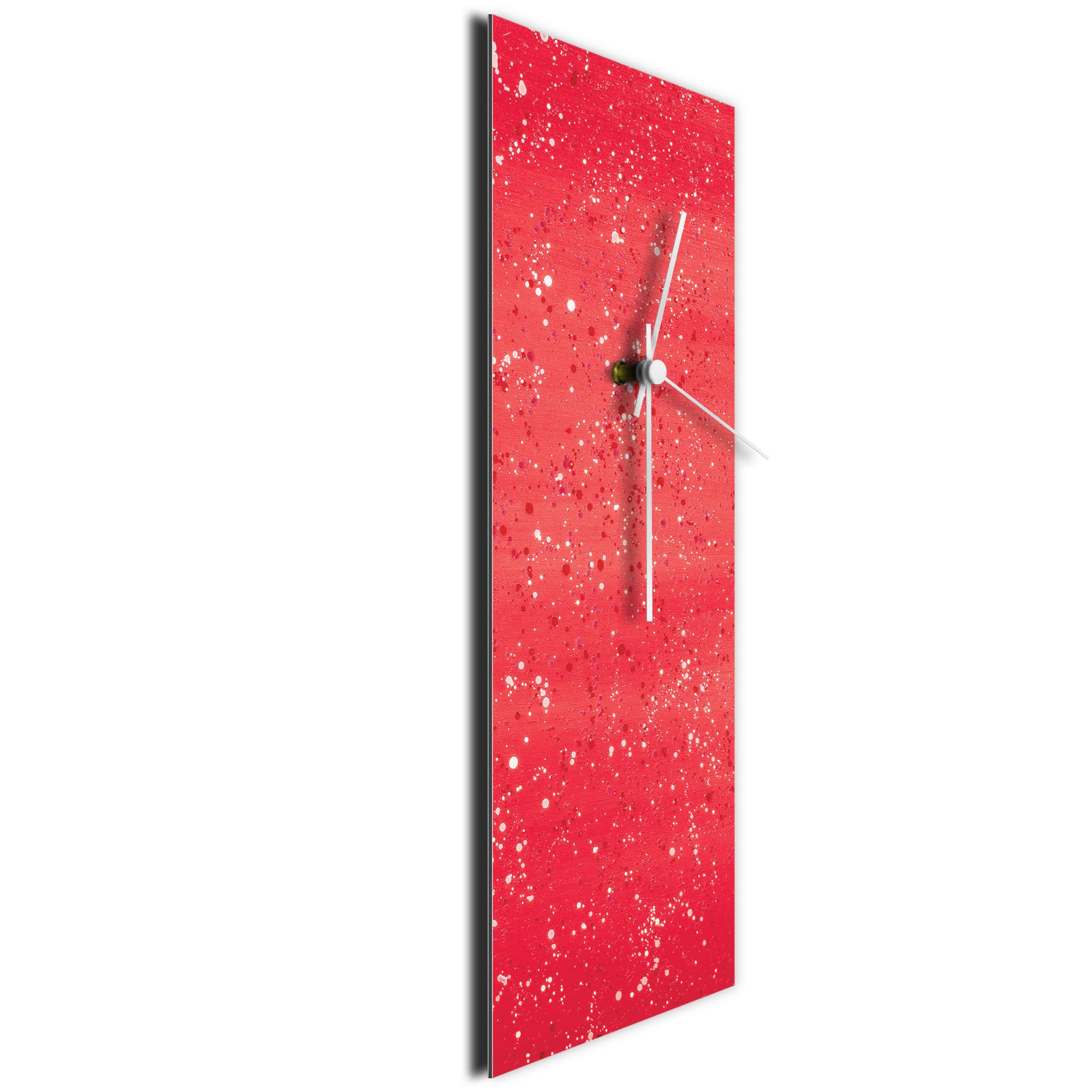 Red Flecked Clock by Mendo Vasilevski - Urban Abstract Home Decor - Image 3