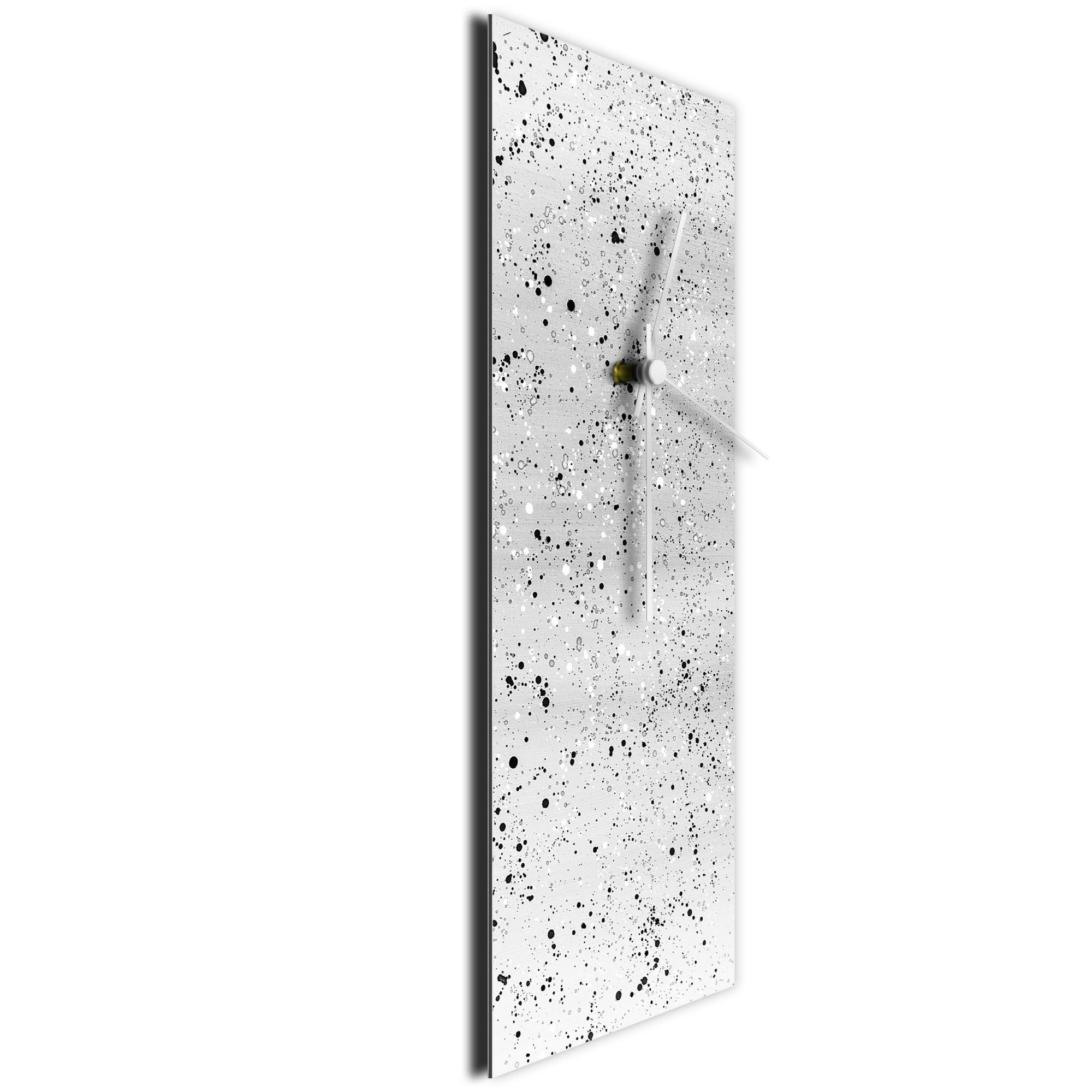 White Flecked Clock Large by Mendo Vasilevski - Urban Abstract Home Decor - Image 3