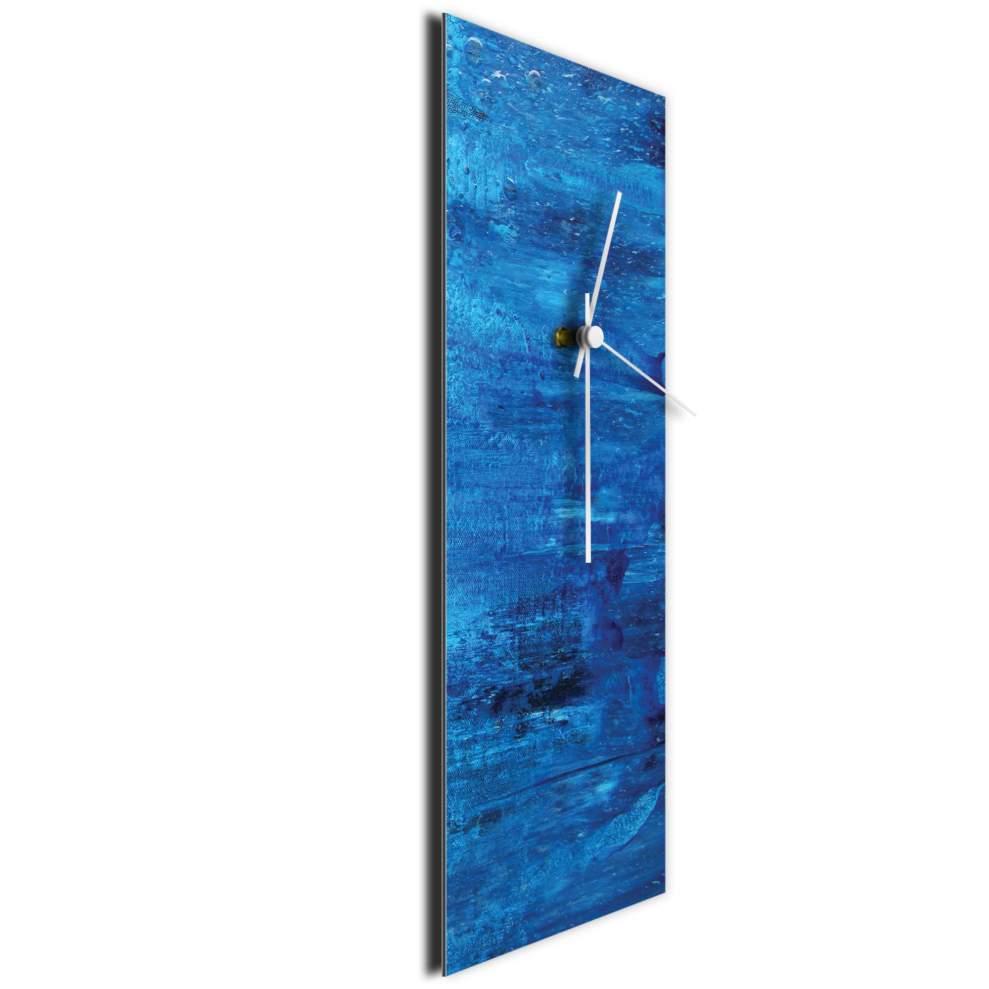 City Blue v2 Clock Large by Mendo Vasilevski - Urban Abstract Home Decor - Image 3