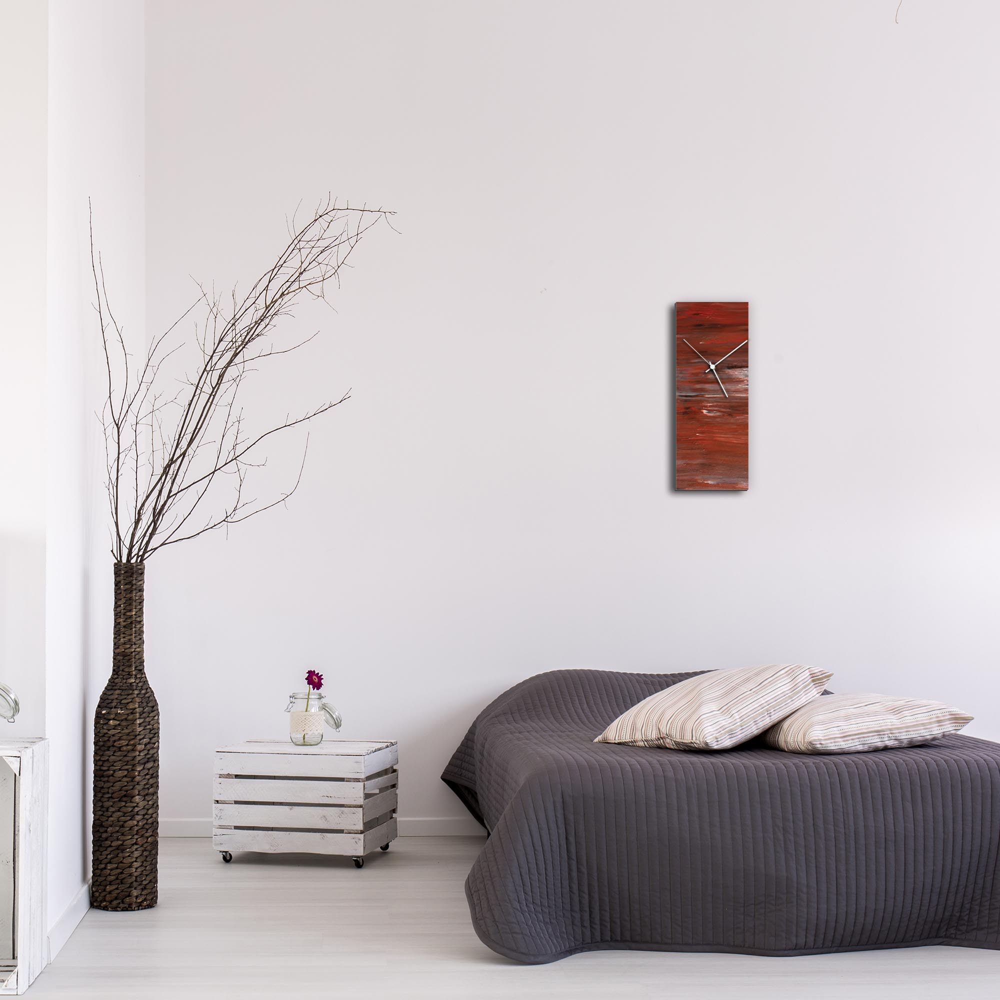 City Brick Clock by Mendo Vasilevski - Urban Abstract Home Decor - Lifestyle View