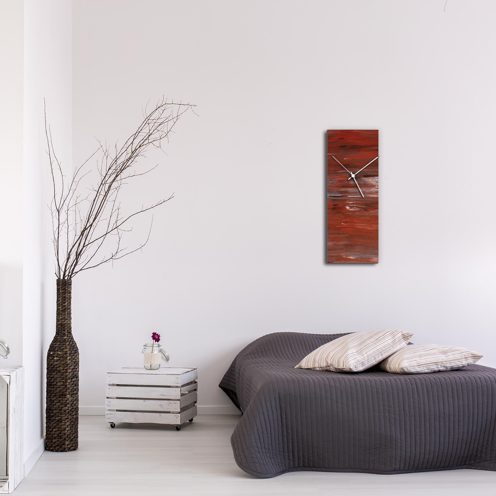 City Brick Clock Large by Mendo Vasilevski - Urban Abstract Home Decor - Lifestyle View