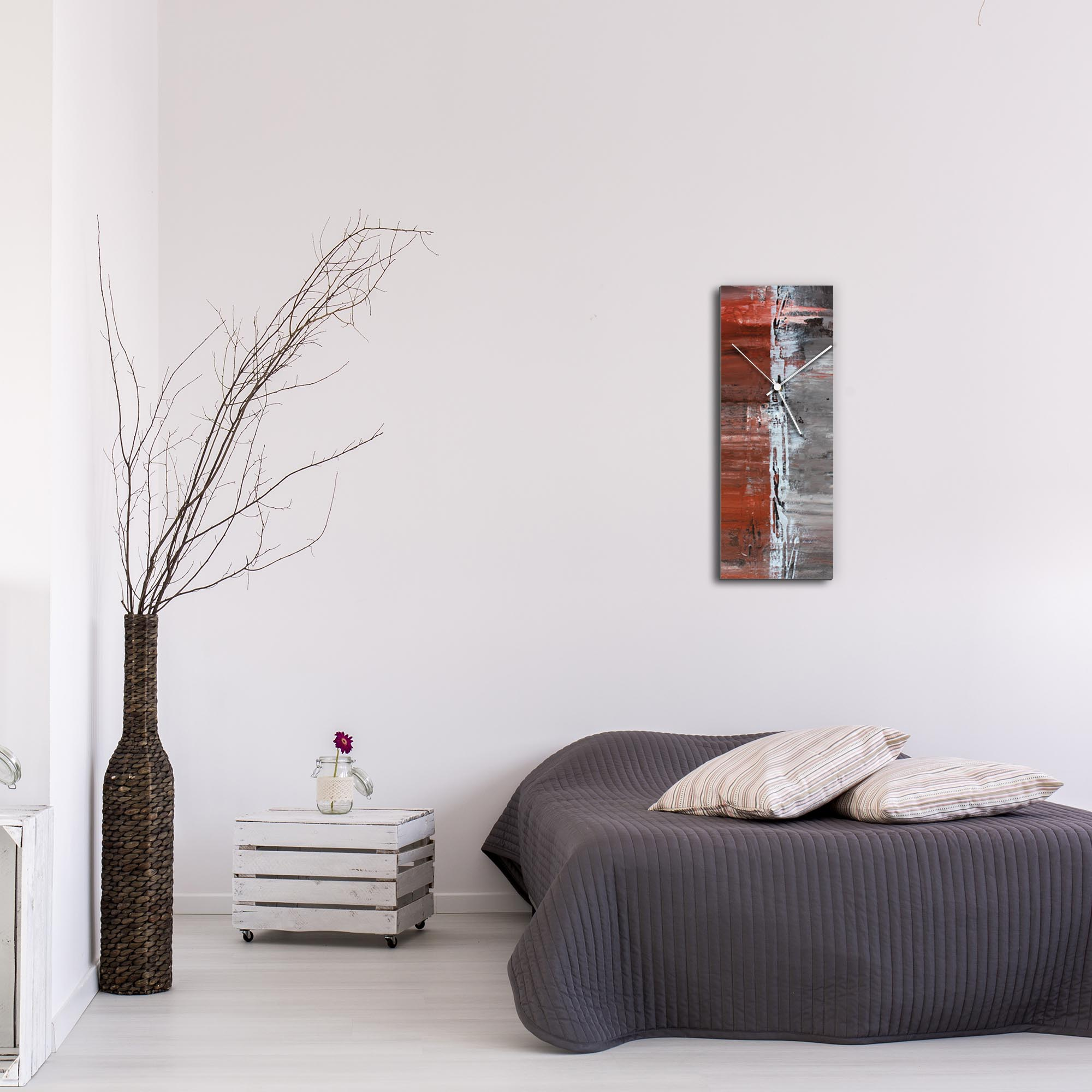 City Alley Clock Large by Mendo Vasilevski - Urban Abstract Home Decor - Lifestyle View