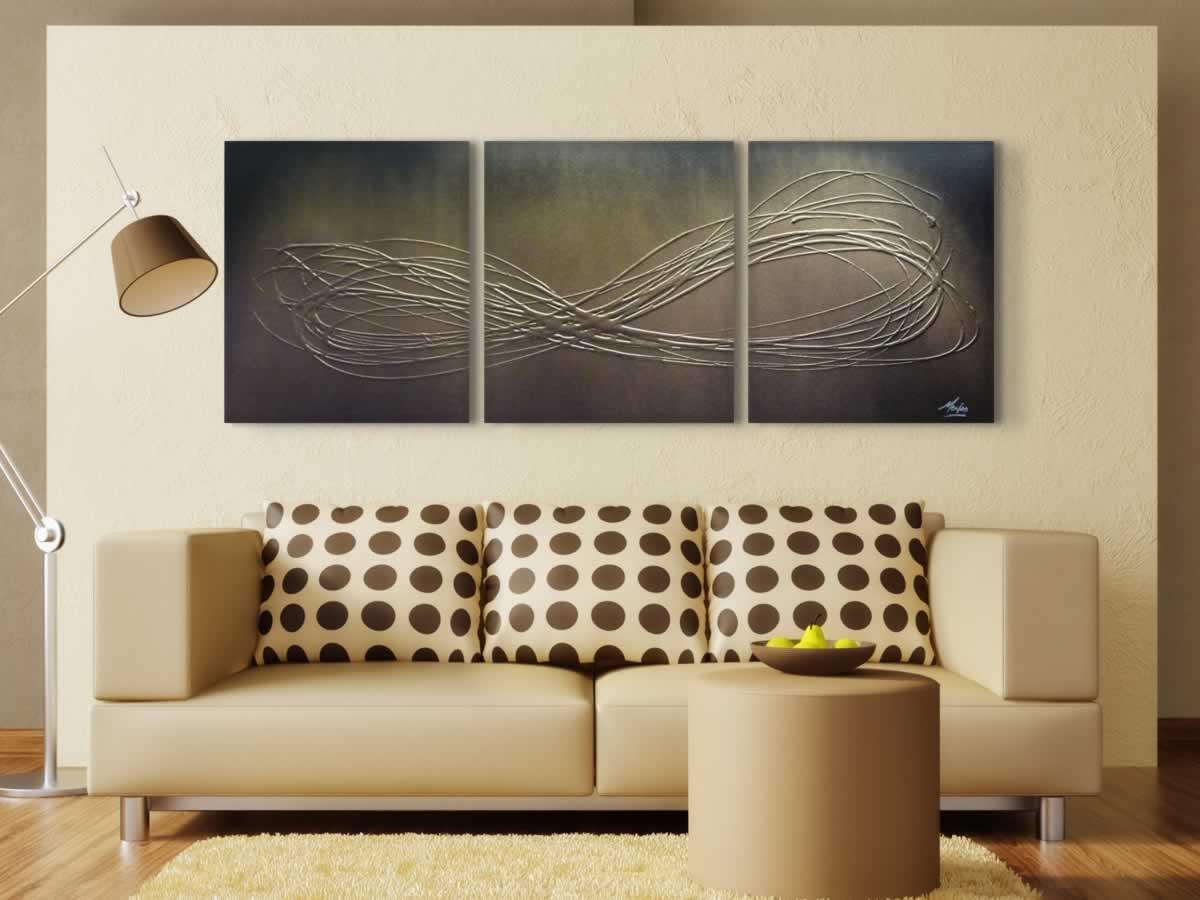 Infinite Gold  - Original Canvas Art - Lifestyle Image