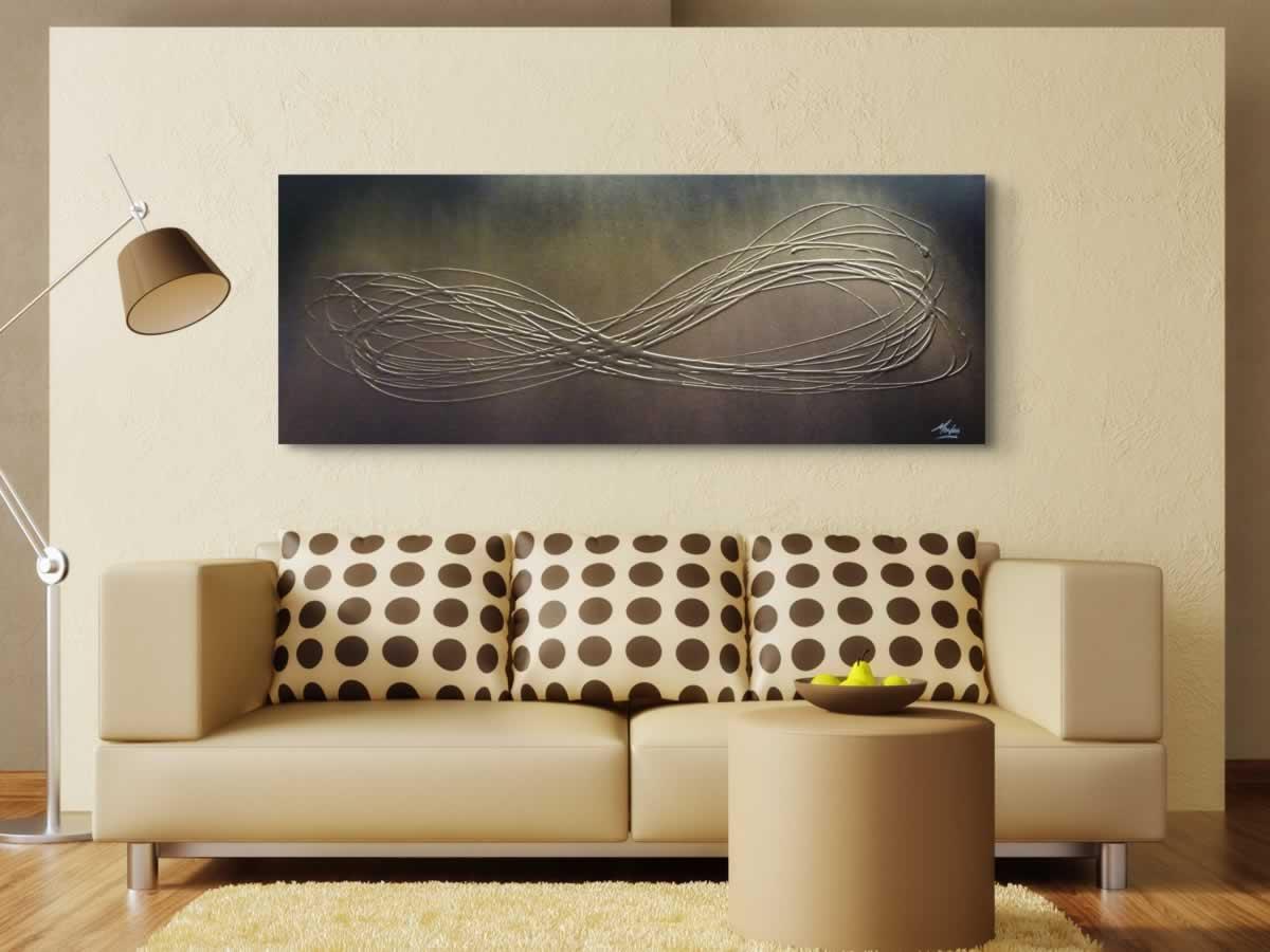 Infinite Gold  - Original Canvas Art - Alternate Image