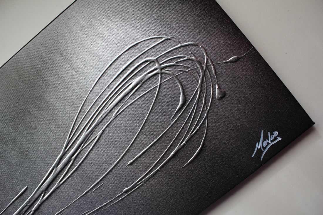 Infinite Silver  - Original Canvas Art - Alternate Image