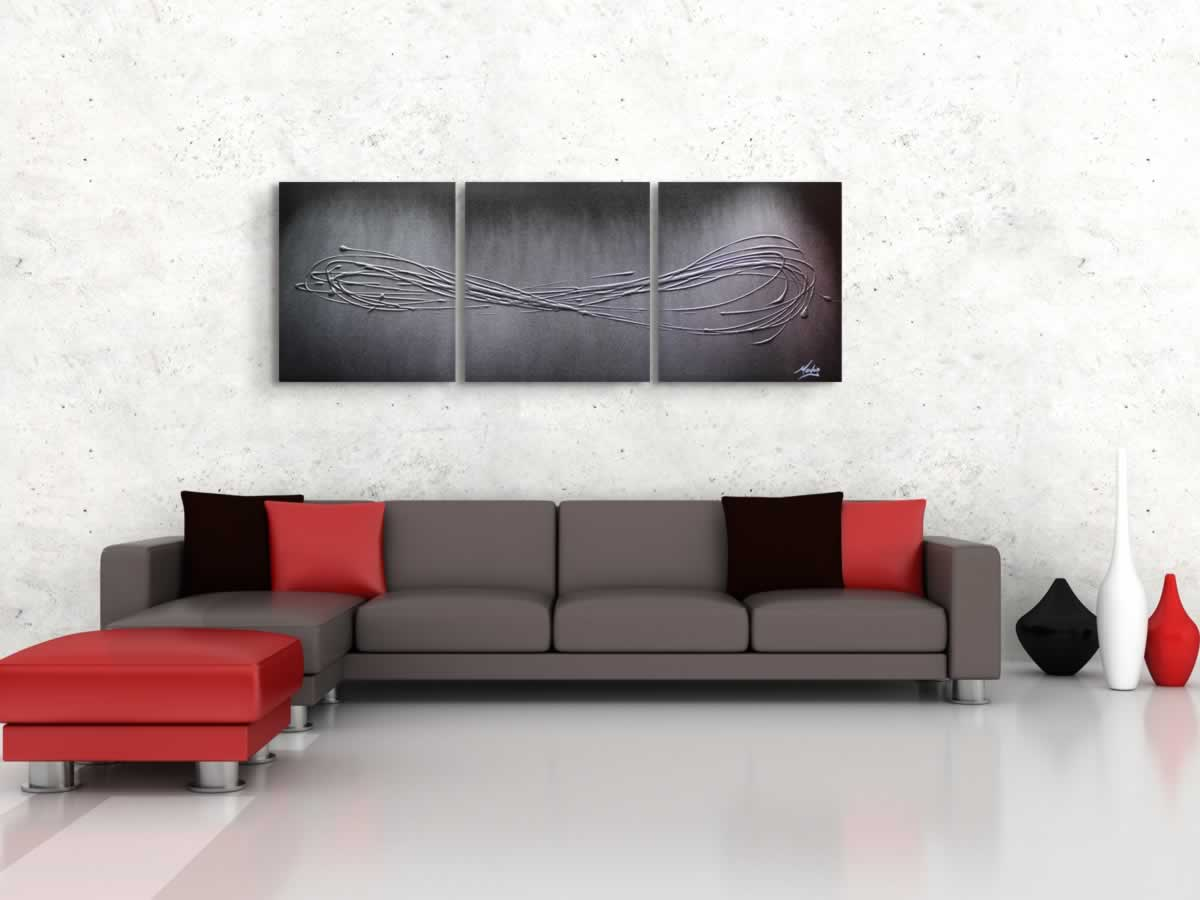 Infinite Silver  - Original Canvas Art - Lifestyle Image