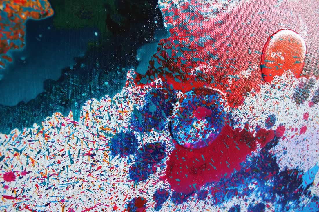 Moving Colours  - Original Canvas Art - Alternate Image