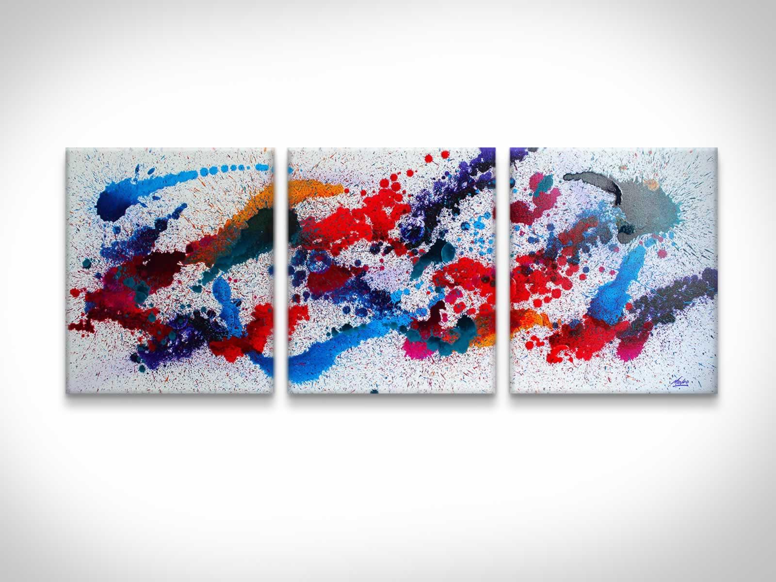 Moving Colours  - Original Canvas Art