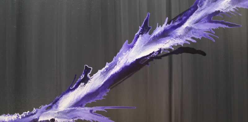 Purple Splash  - Original Canvas Art - Alternate Image