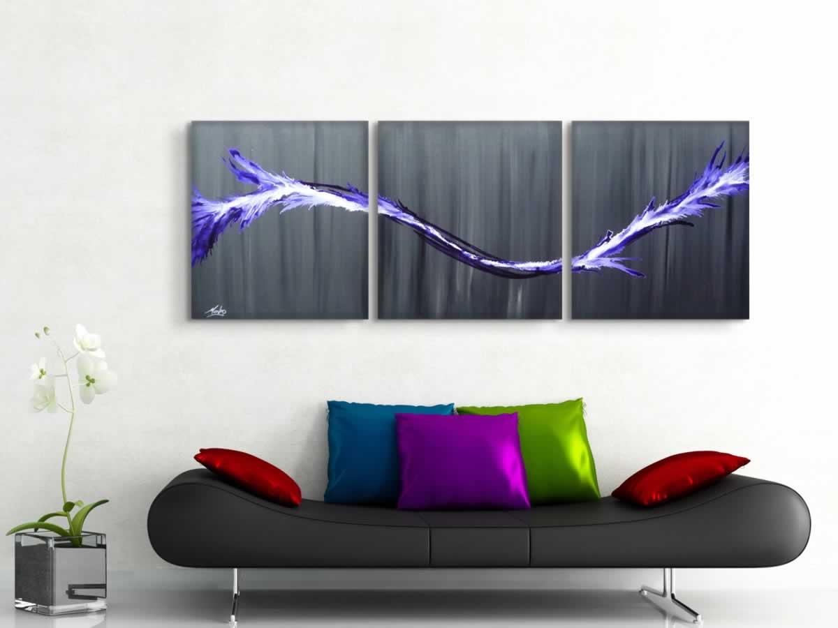 Purple Splash  - Original Canvas Art - Lifestyle Image