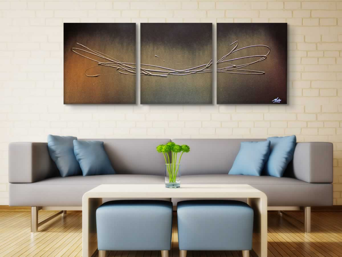 The Gold Touch  - Original Canvas Art - Lifestyle Image