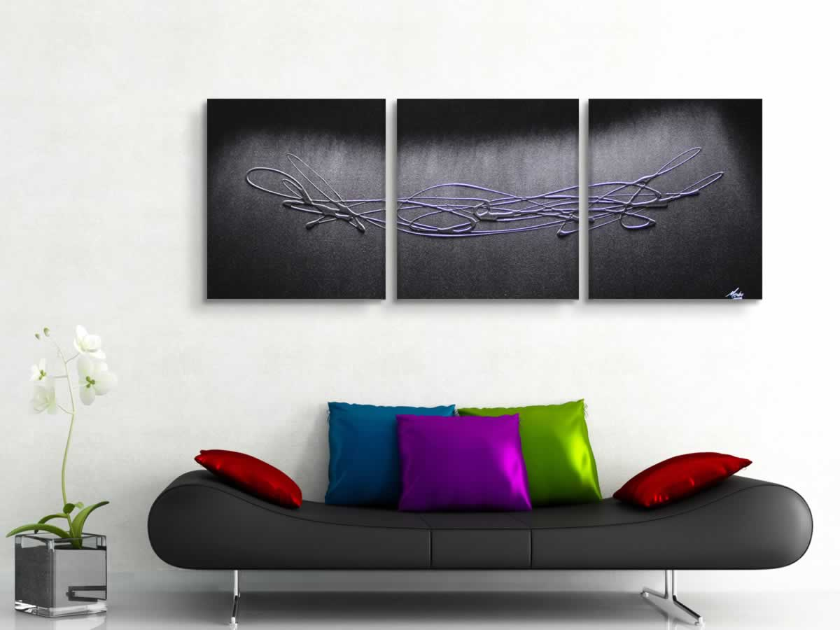 The Silver Touch  - Original Canvas Art - Lifestyle Image