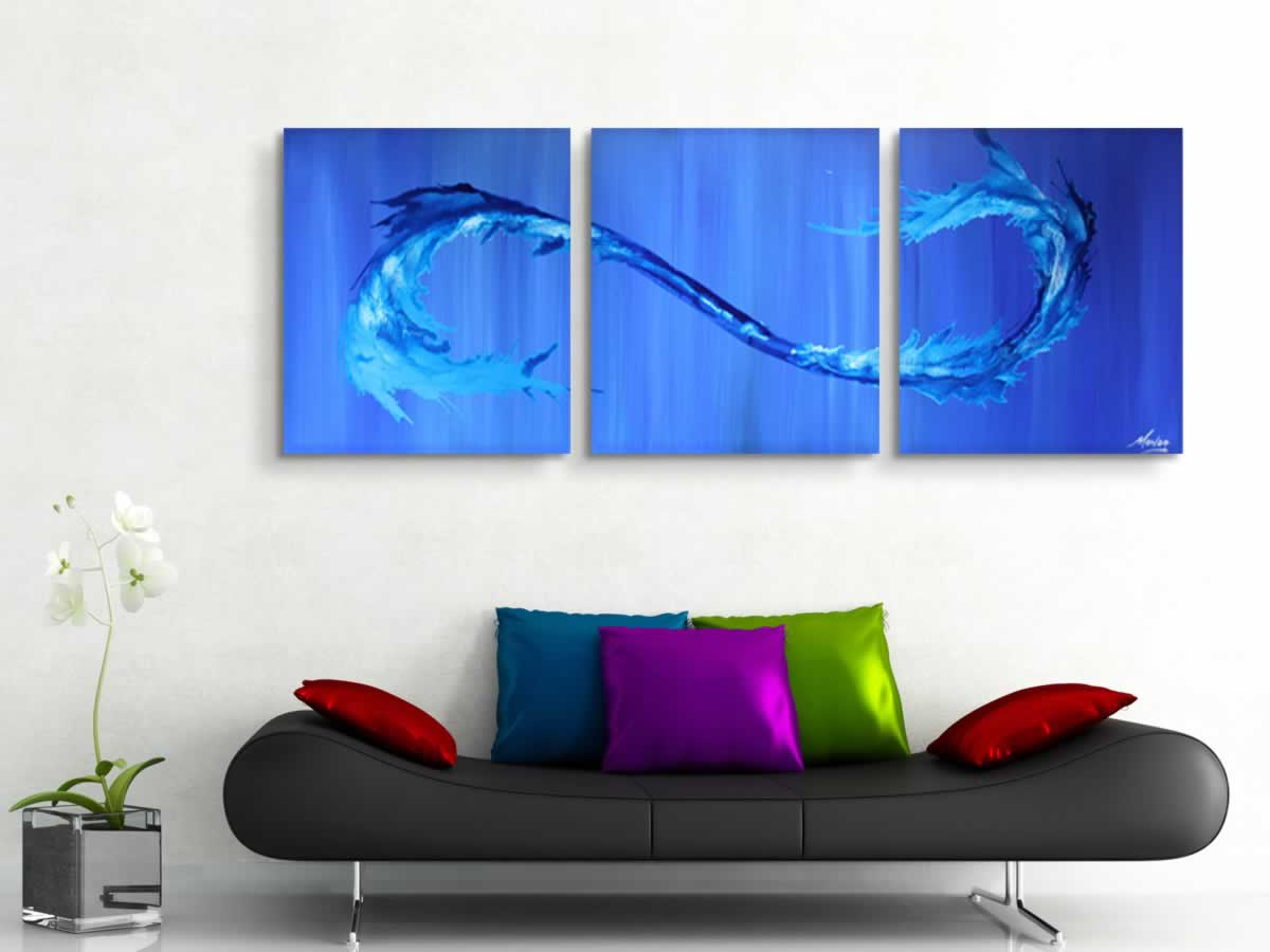 Twisting Tides  - Original Canvas Art - Lifestyle Image