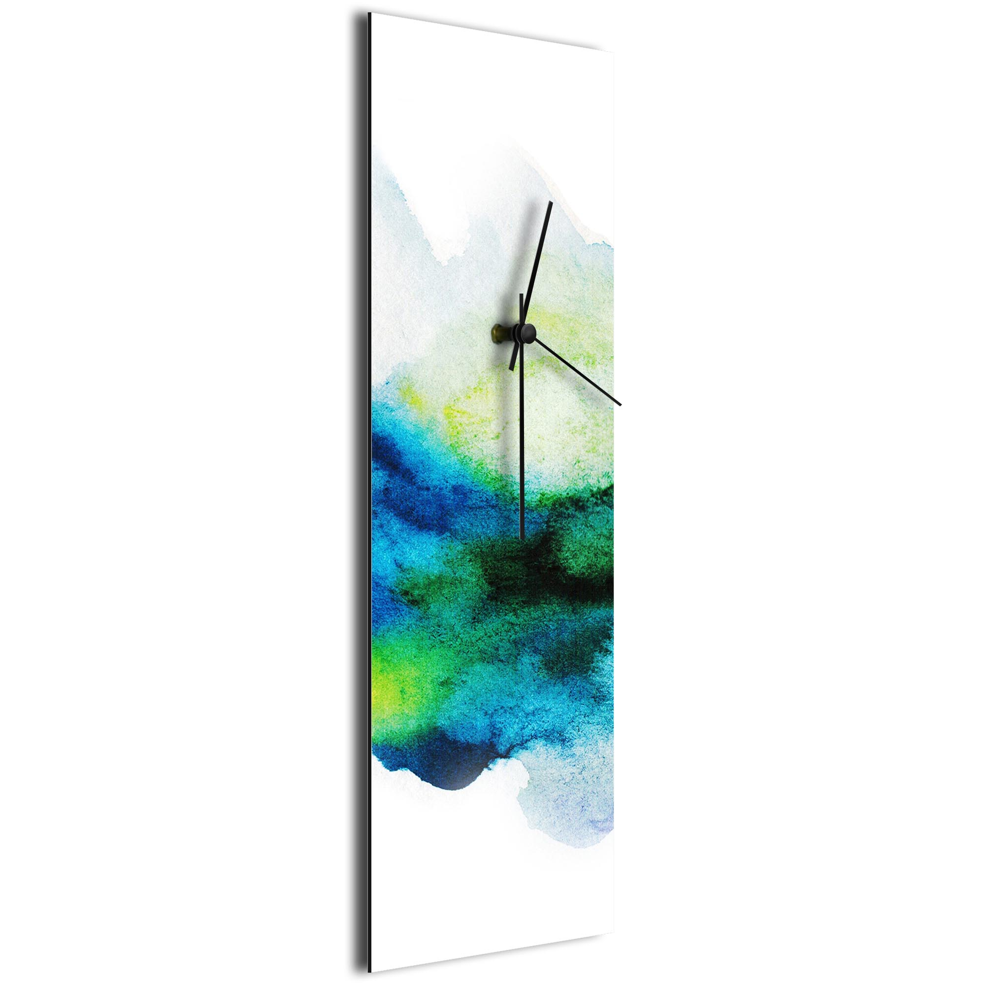 Watercolor Clock v1 by NAY - Watercolors Coastal Wall Clock - Image 2