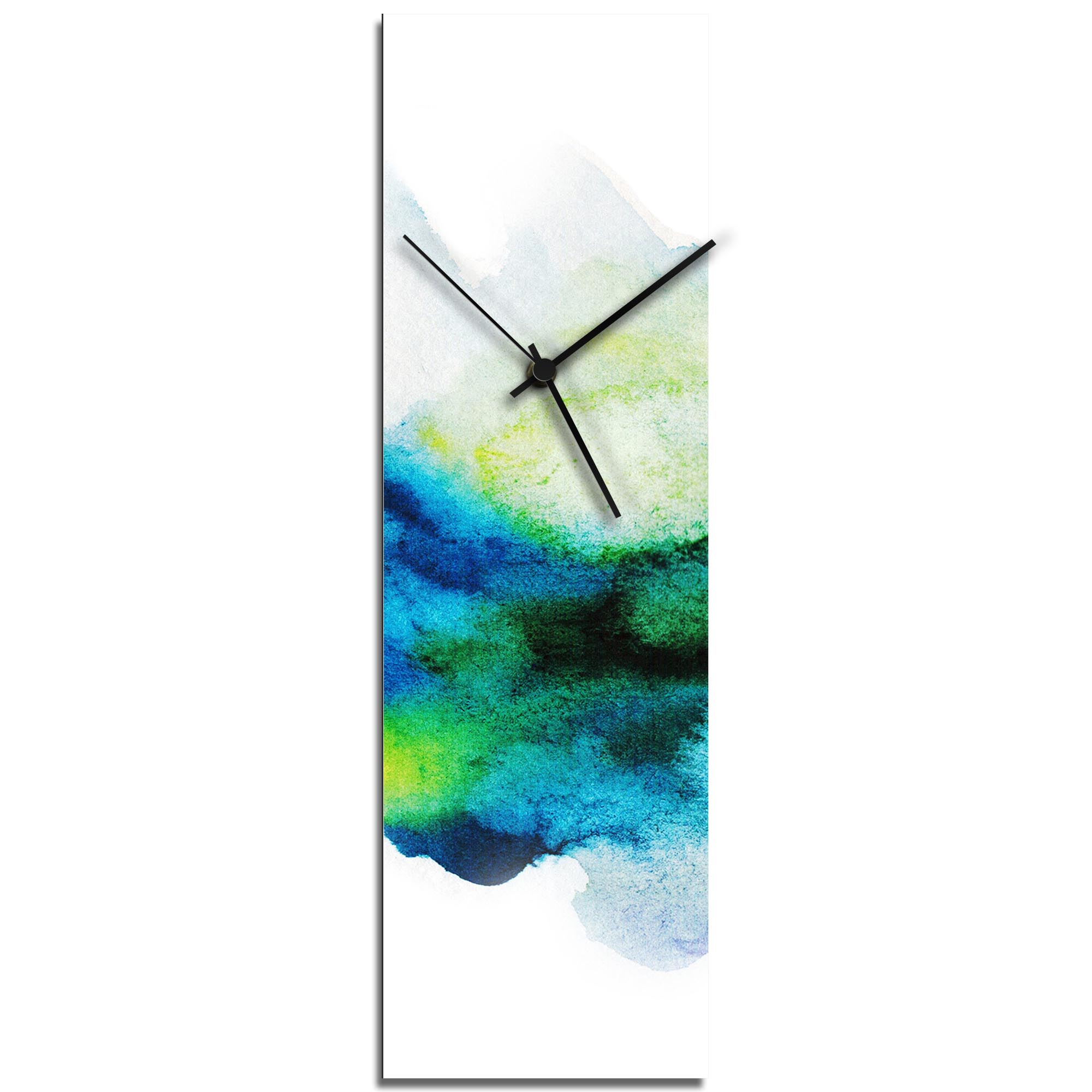 NAY 'Watercolor Clock v1' Modern Style Wall Clock
