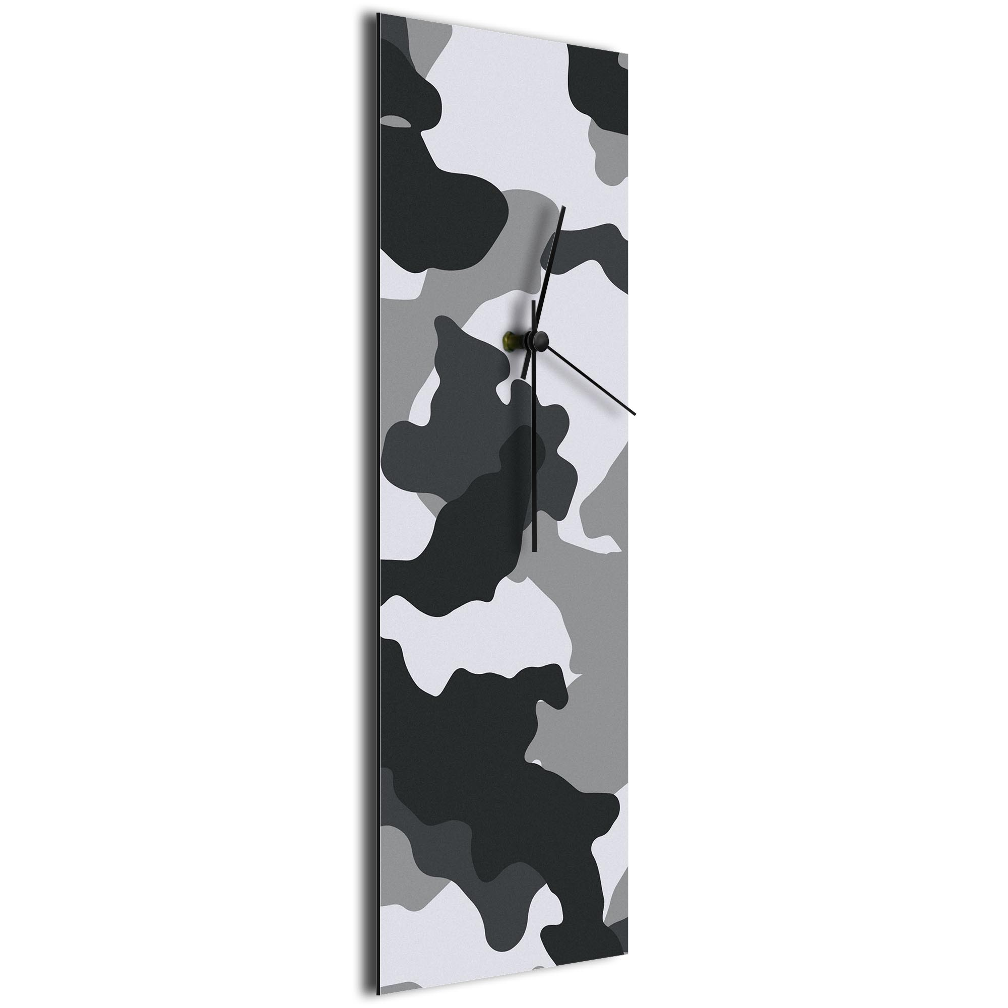 Urban Camo Clock v1 by NAY - Camouflage Modern Wall Clock - Image 2