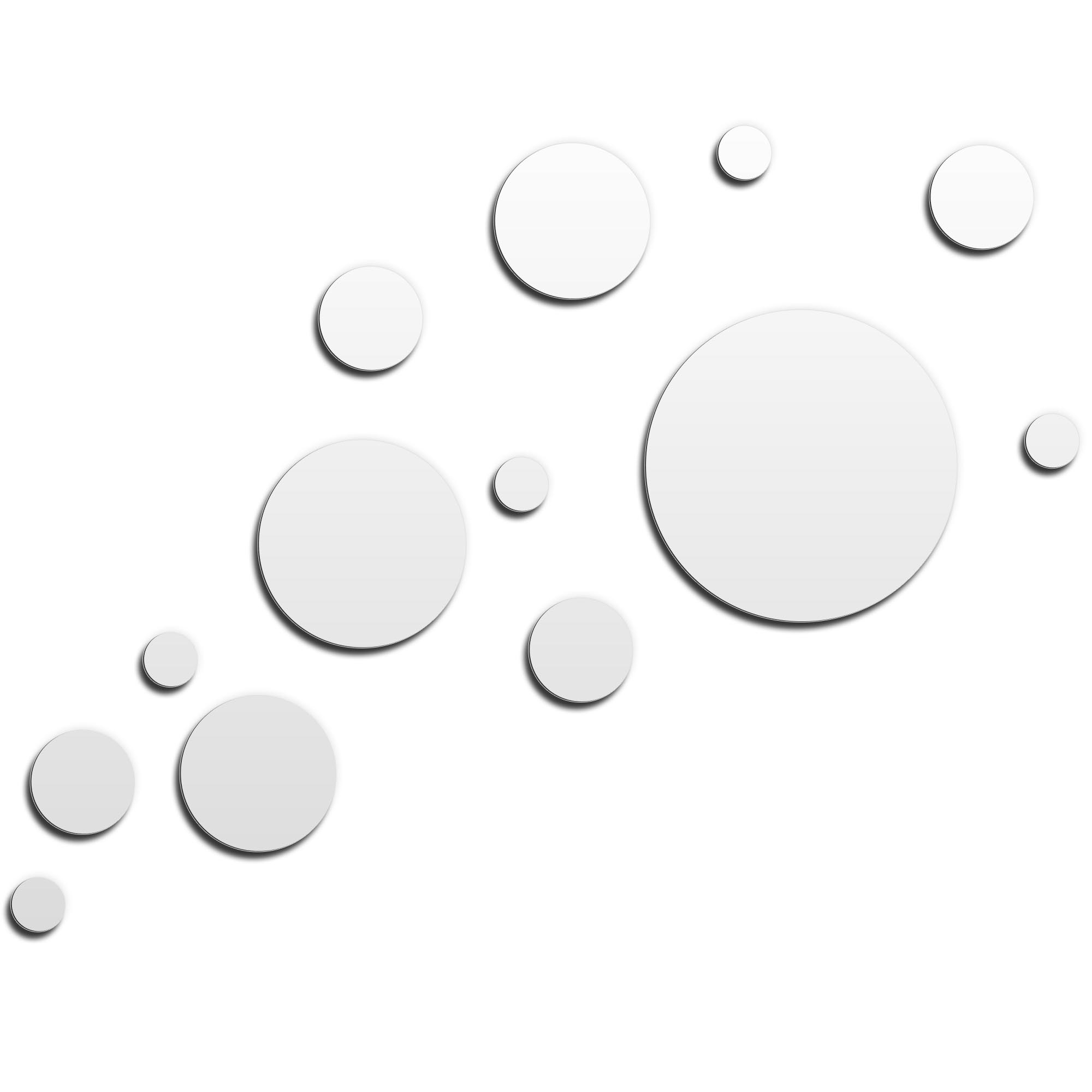NAY 'Floating White' 66in x 50in Circles Abstract Art on Aluminum Composite