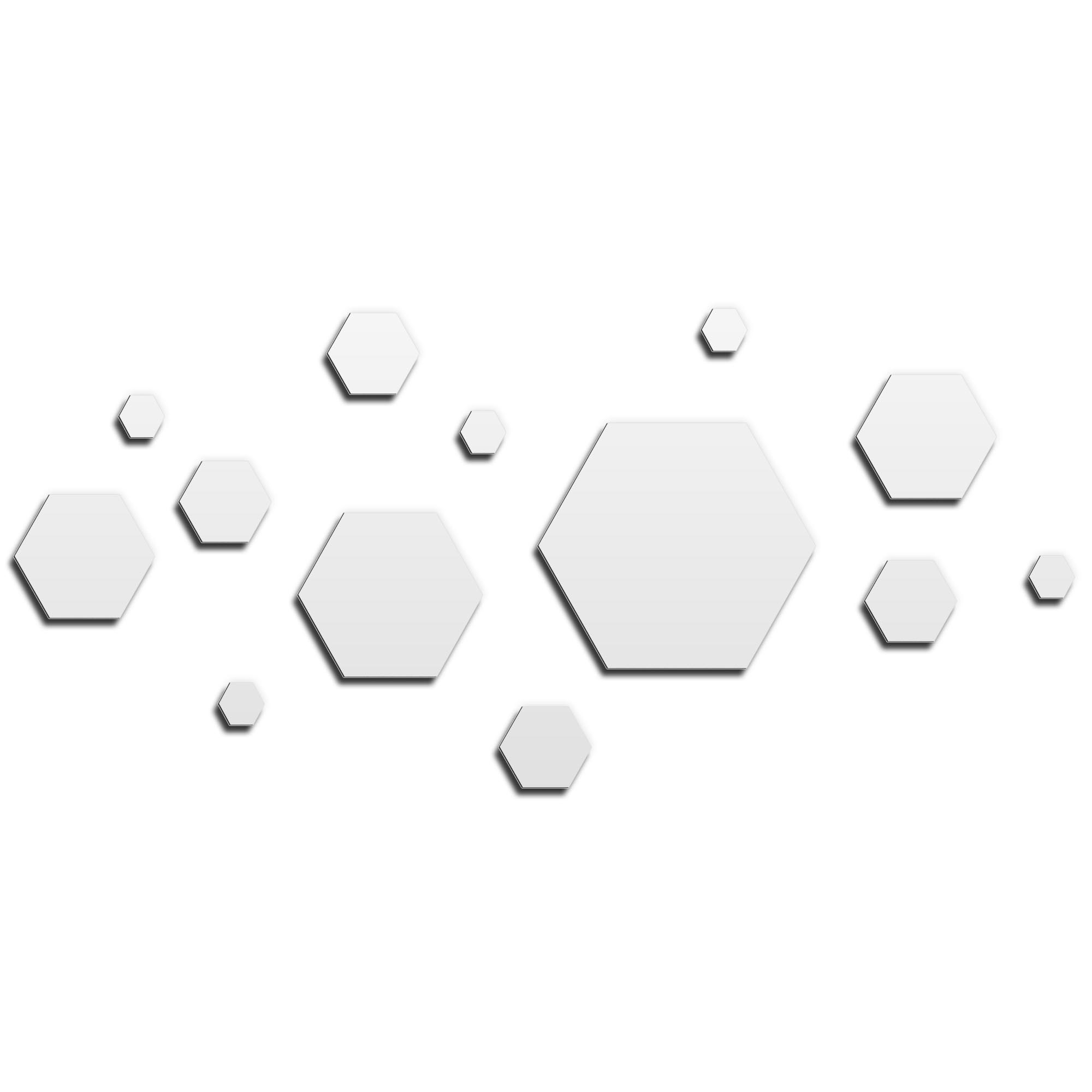 NAY 'Honeycomb White' 70in x 32in Hexagons Abstract Art on Aluminum Composite