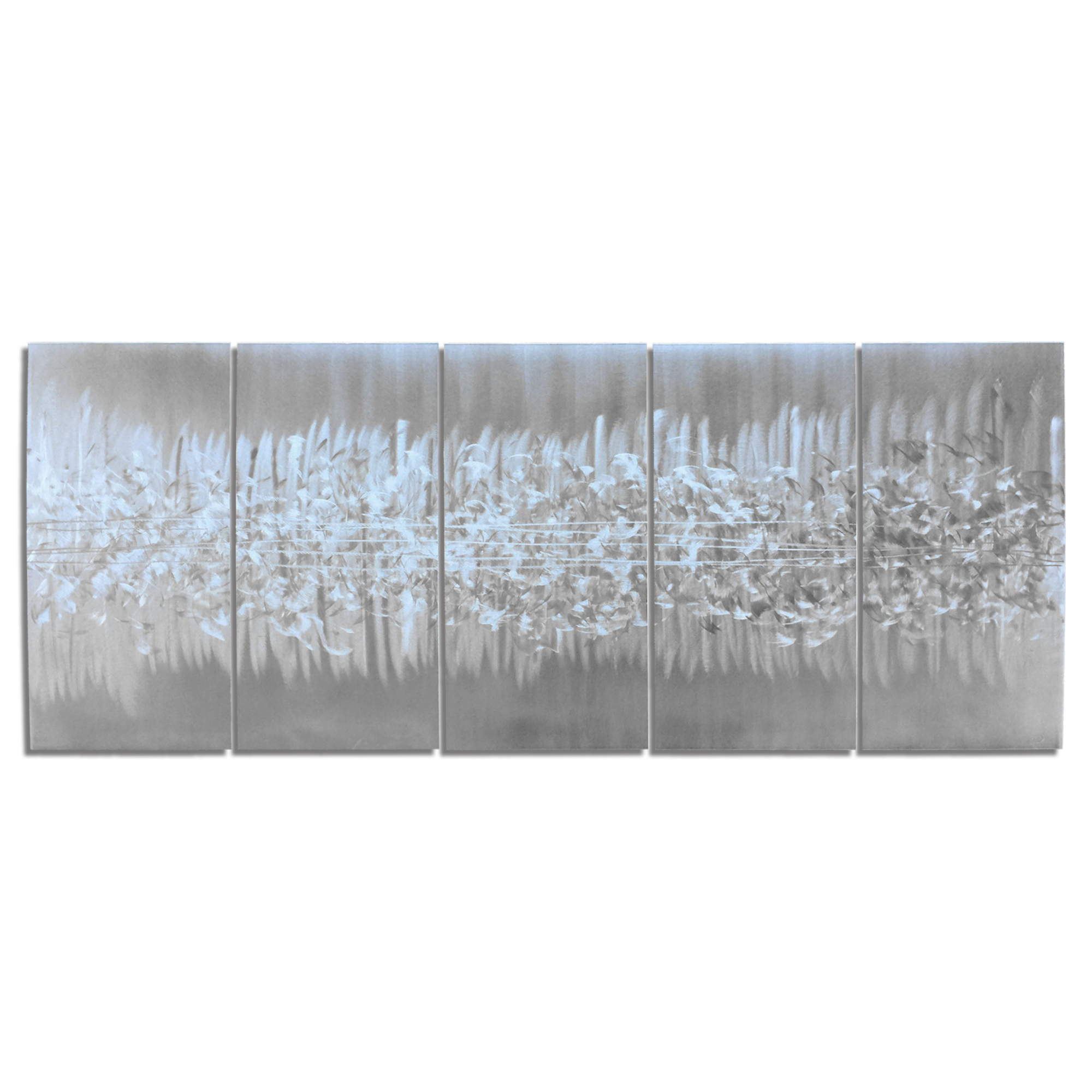 Abstract Metal Art 'Static' - Modern Urban Artwork on Natural Aluminum