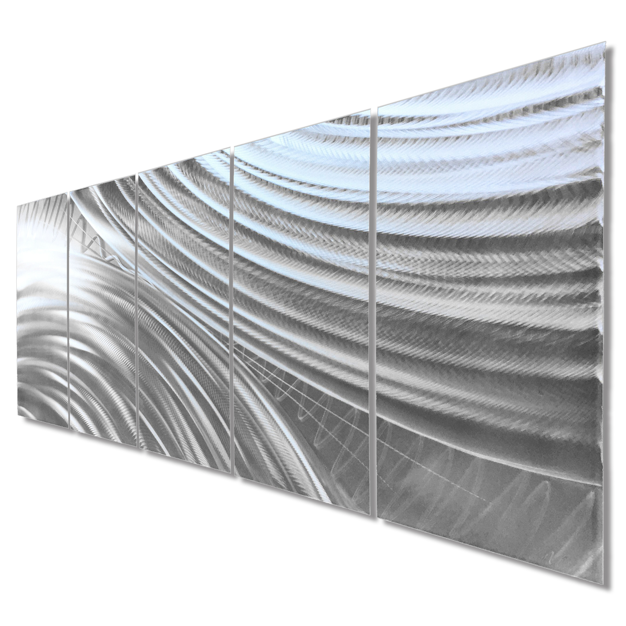 Modern Metal Art 'Moment of Impact' - Abstract Artwork on Natural Aluminum - Image 2