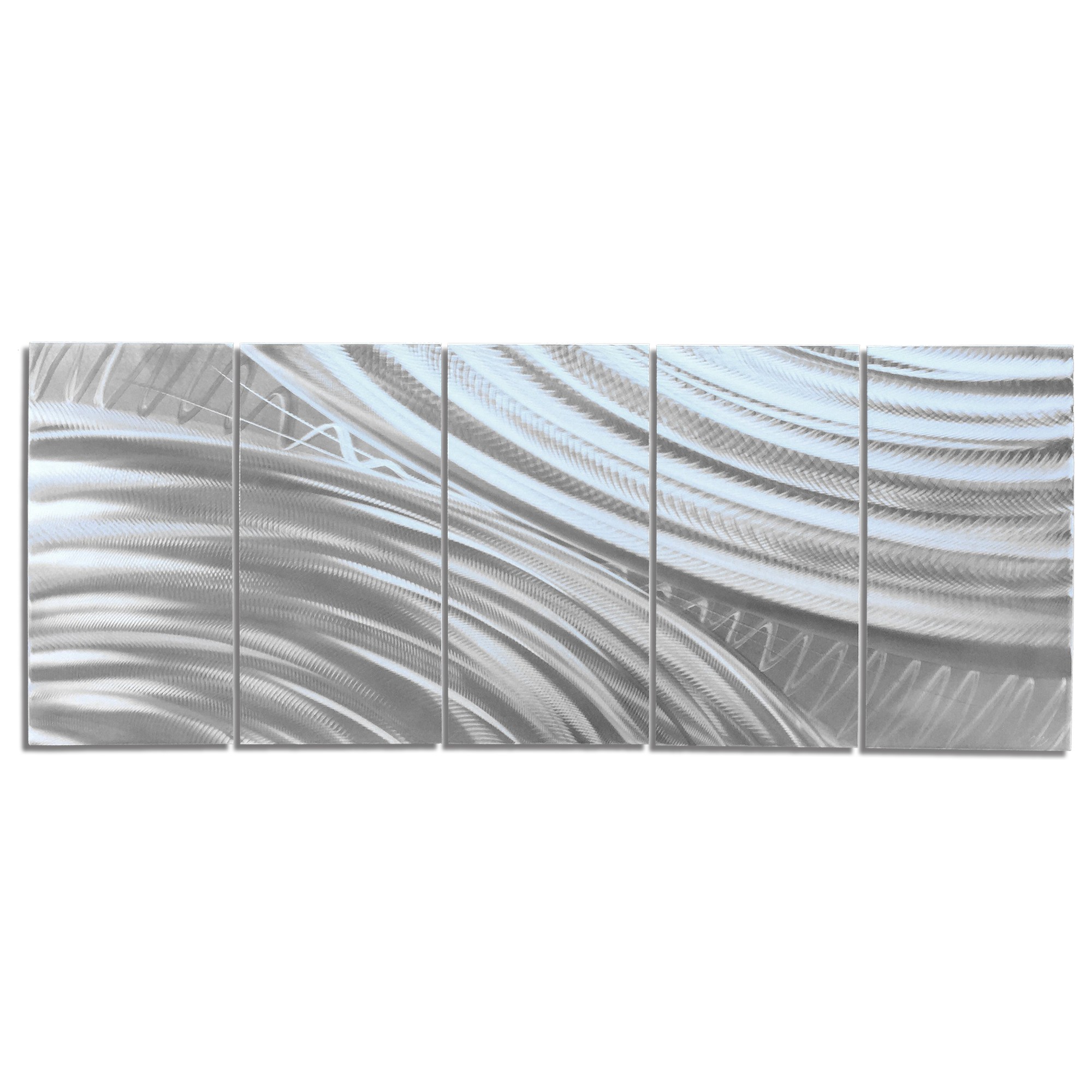 Modern Metal Art 'Moment of Impact' - Abstract Artwork on Natural Aluminum