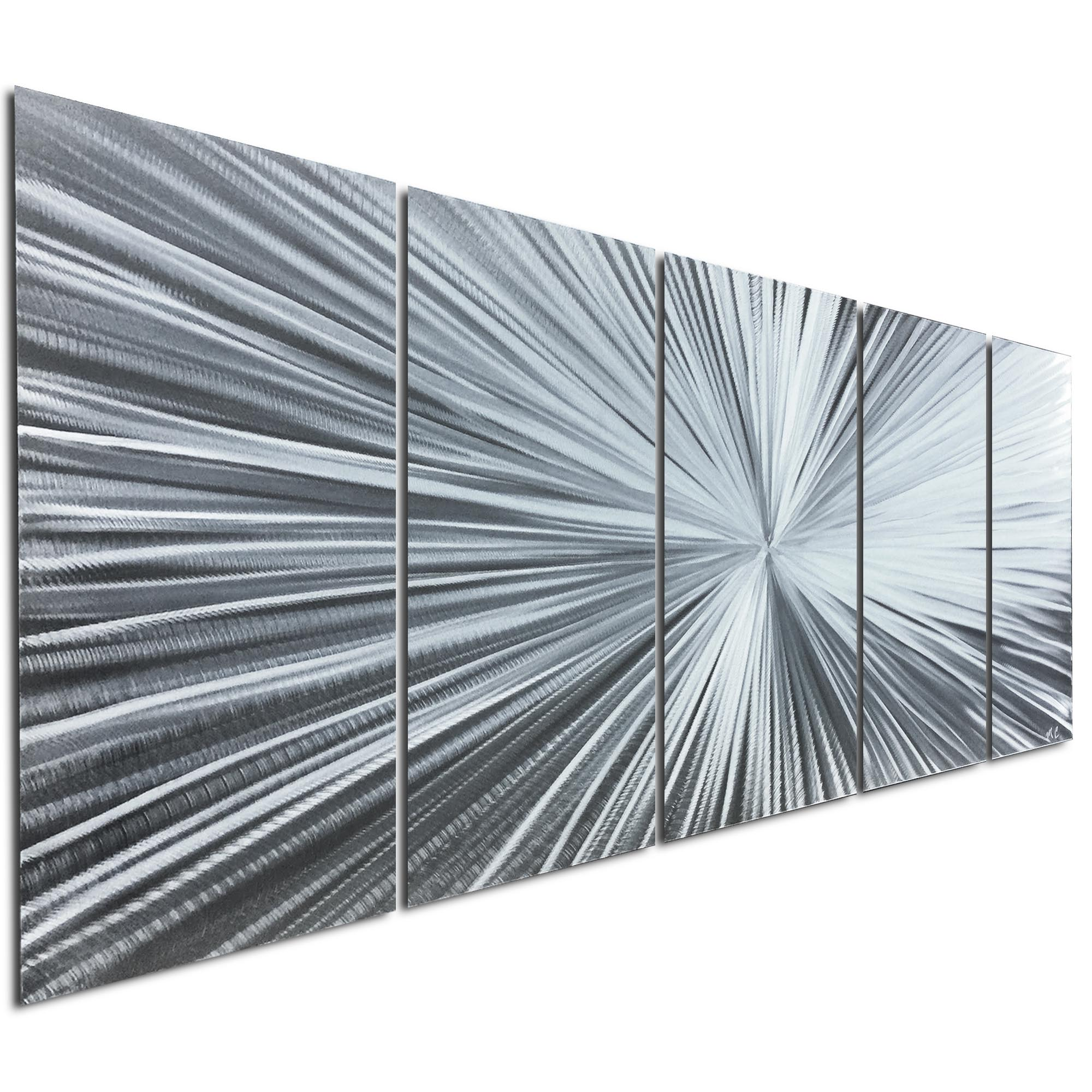 The Light by Helena Martin - Starburst Metal Art on Natural Aluminum - Image 2