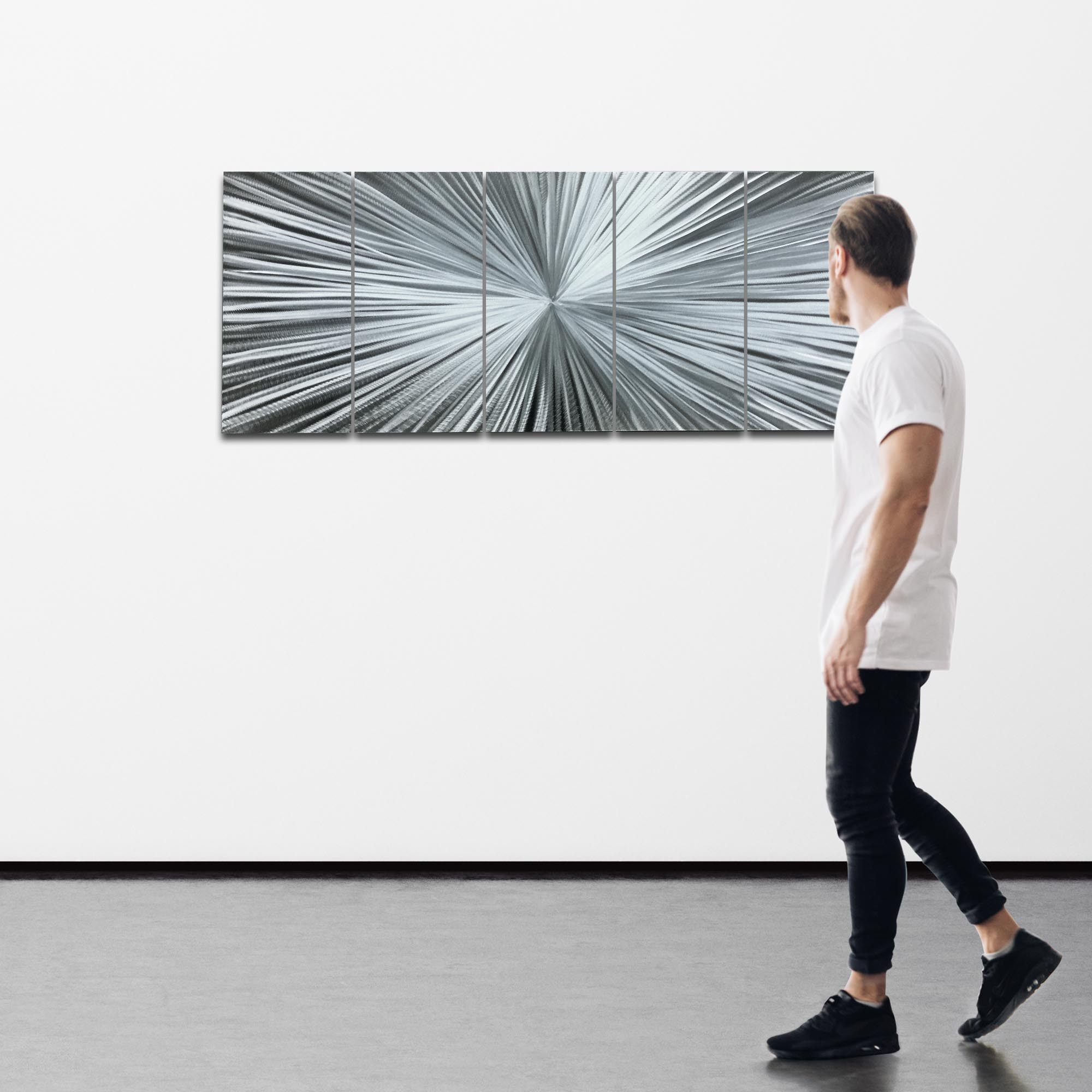The Light by Helena Martin - Starburst Metal Art on Natural Aluminum - Image 3