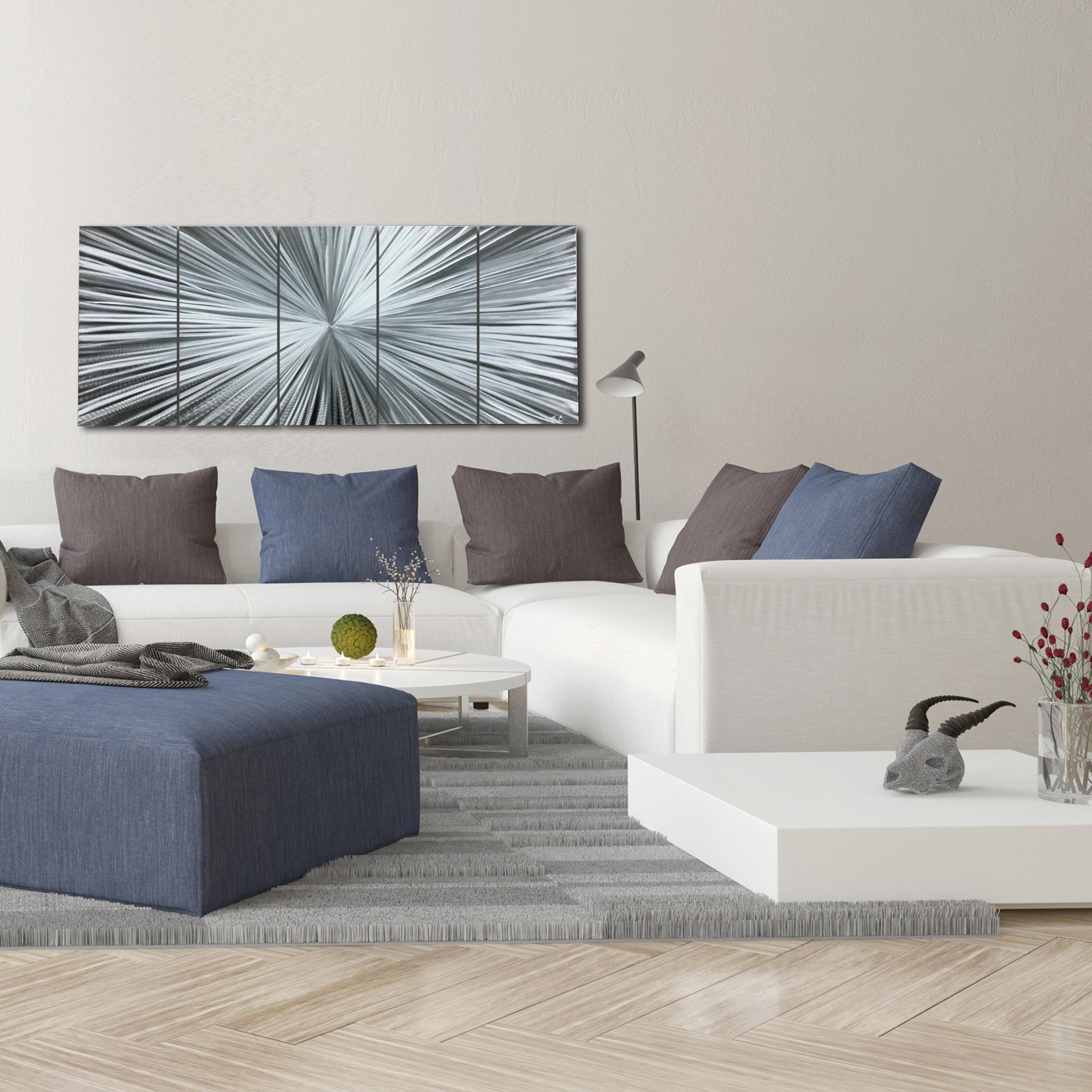 The Light by Helena Martin - Starburst Metal Art on Natural Aluminum - Lifestyle View