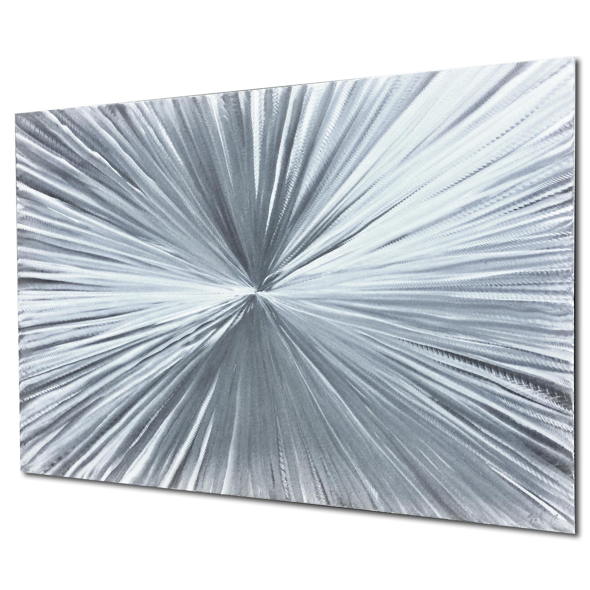 Bursting by Helena Martin - Sunburst Metal Art on Natural Aluminum - Image 2