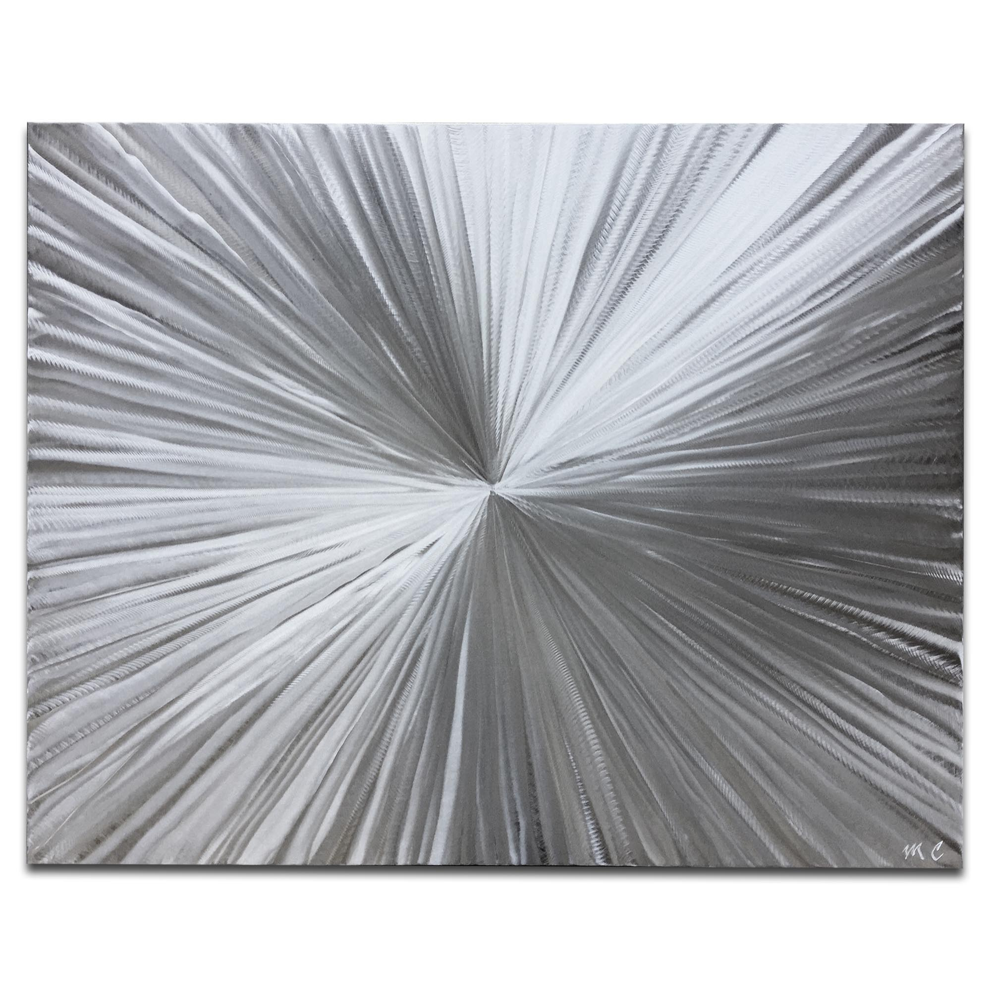 Bursting by Helena Martin - Sunburst Metal Art on Natural Aluminum