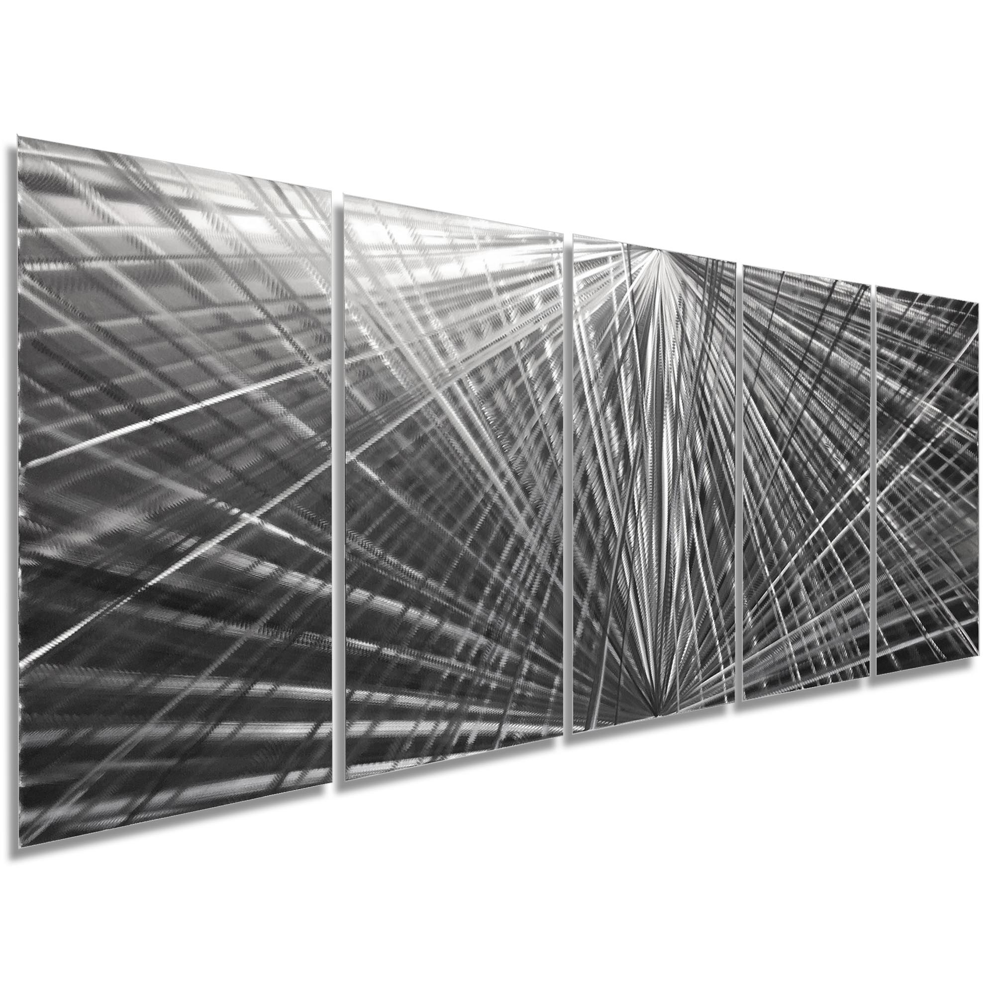 In Harmony 62x24in. Natural Aluminum Abstract Decor - Image 2